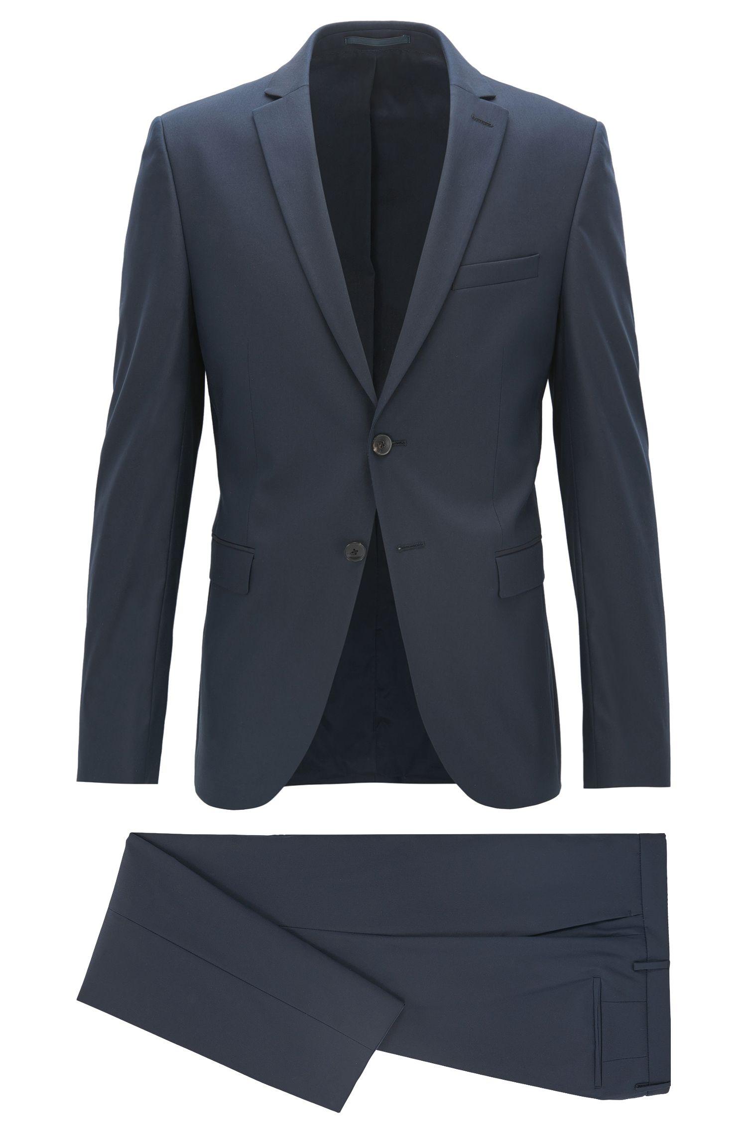 Extra Slim-Fit Anzug aus elastischem Baumwoll-Mix