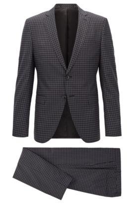 Extra Slim-Fit Anzug aus karierter Schurwolle, Gemustert