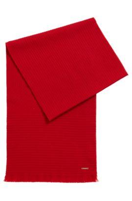 Bufanda monocromática en lana con textura, Rojo