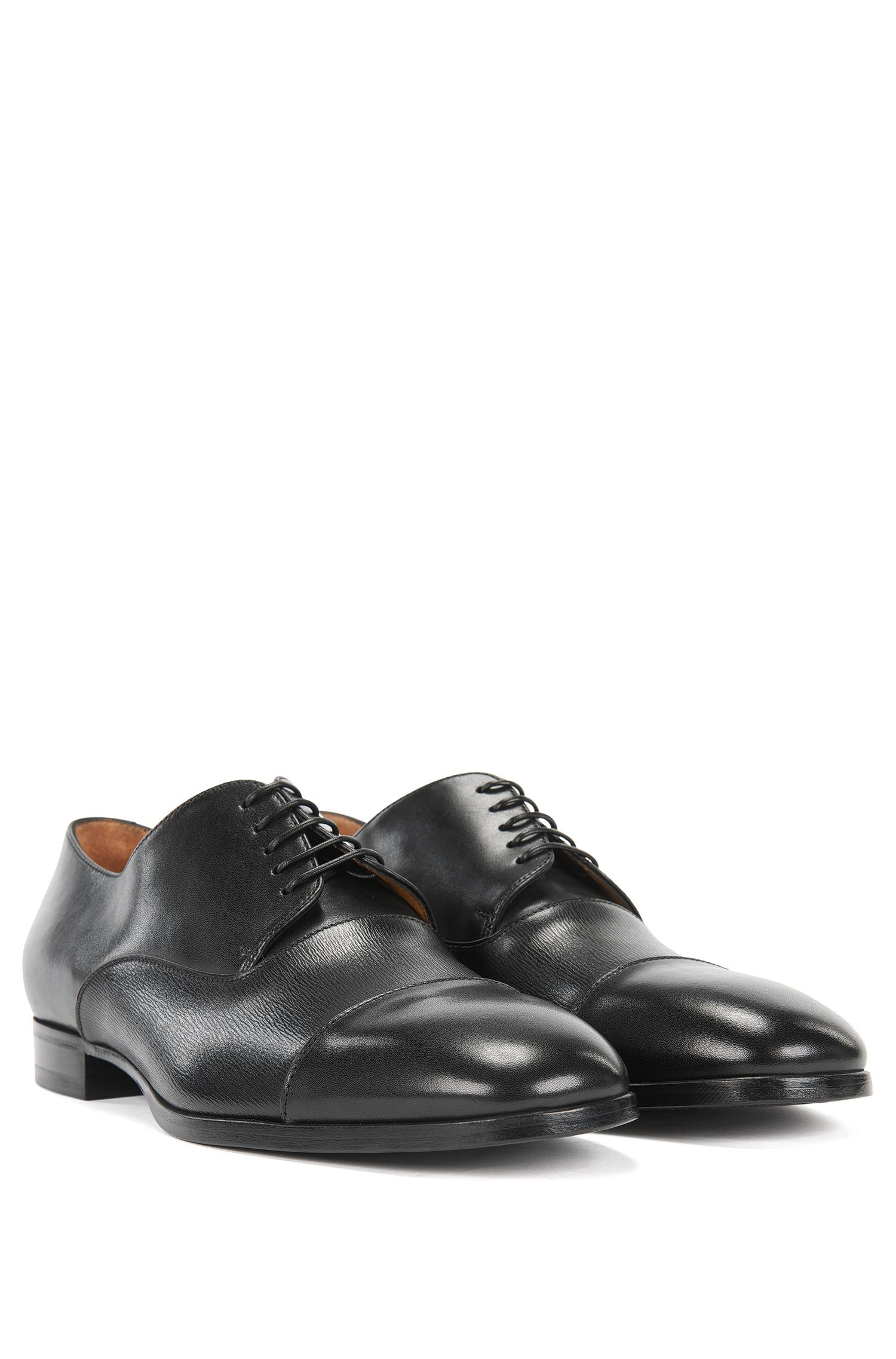 Derby shoes in printed leather