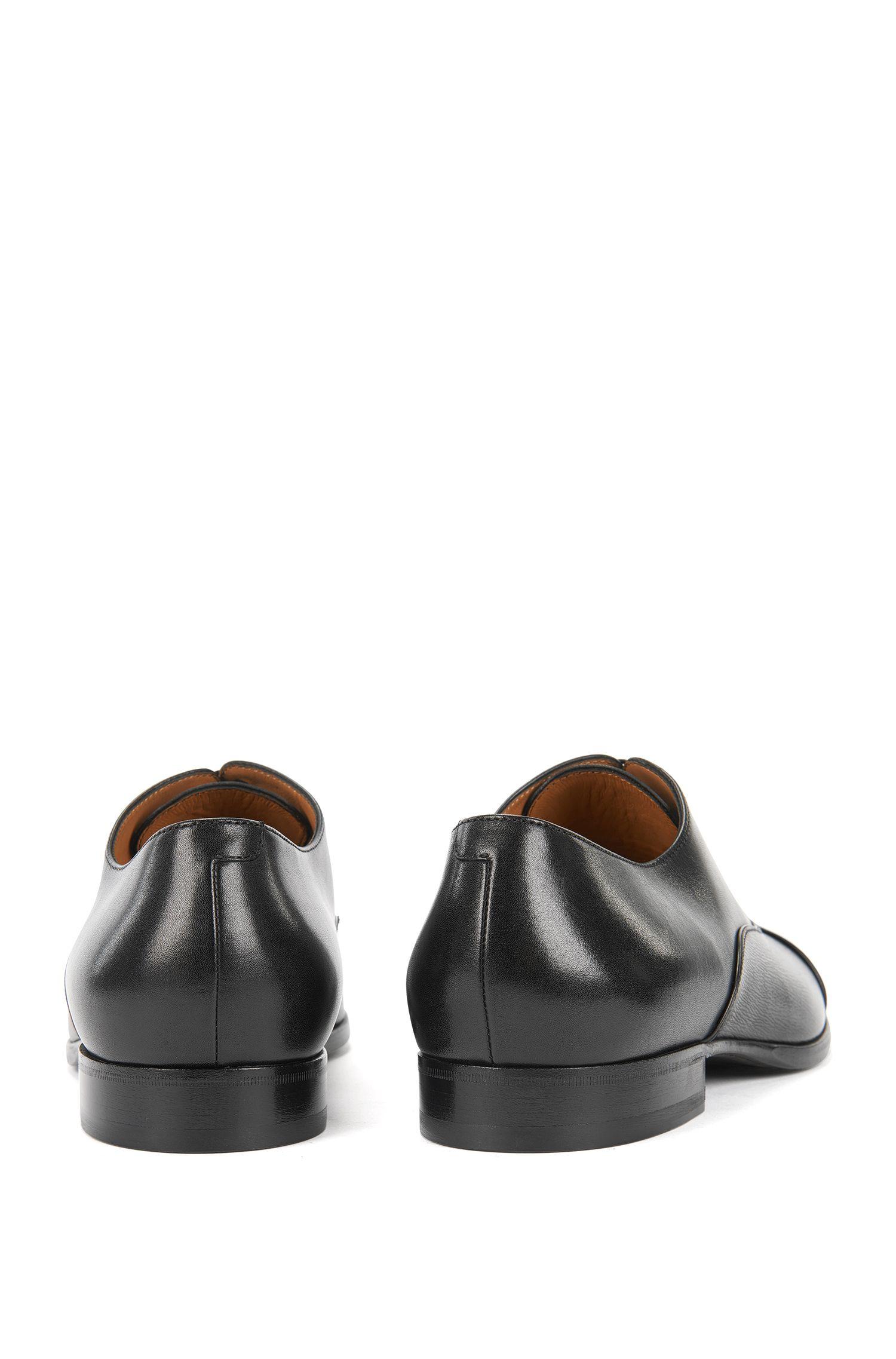 Zapatos Derby en piel estampada