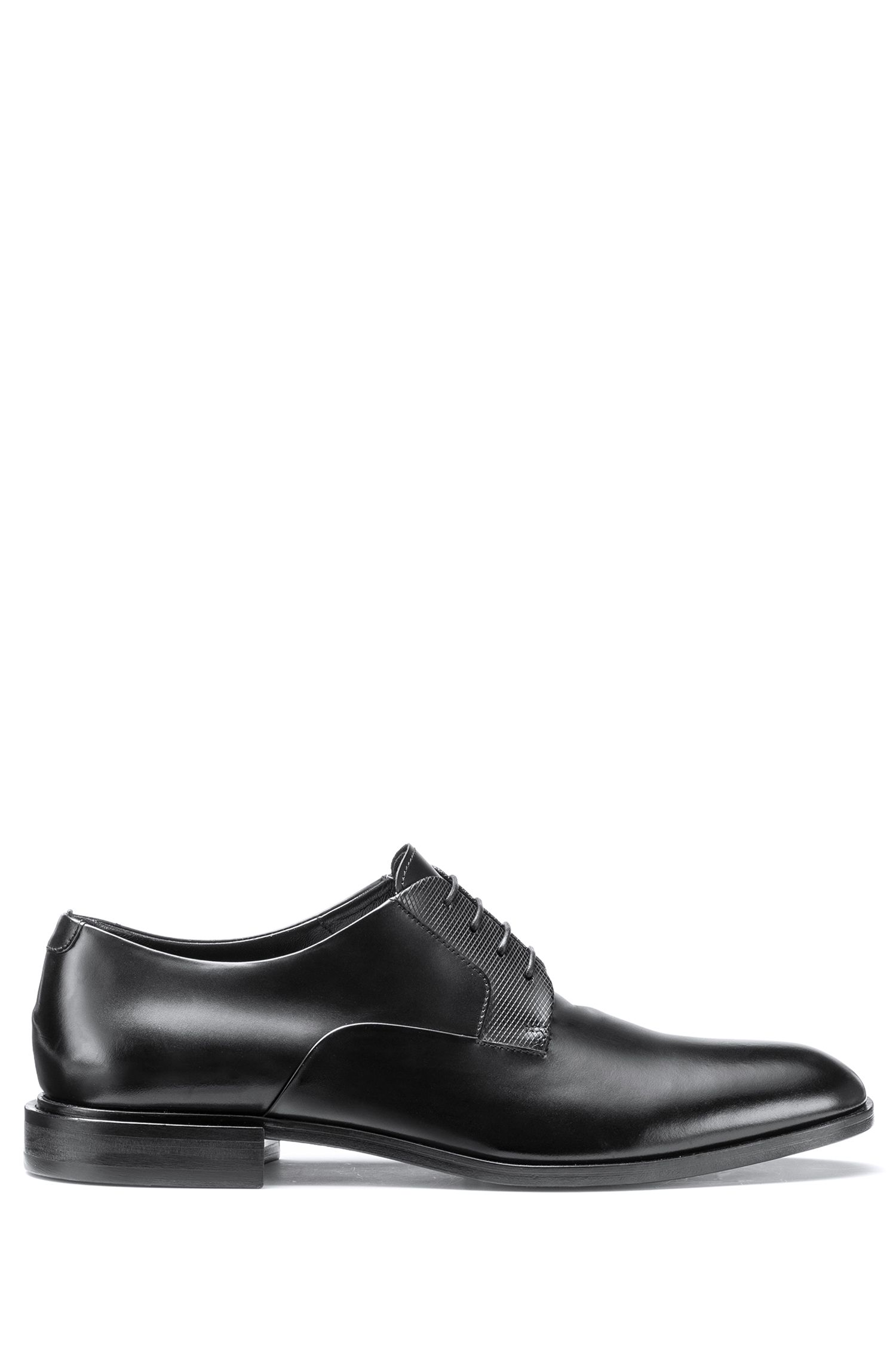 Lace-up Derby shoes in polished leather