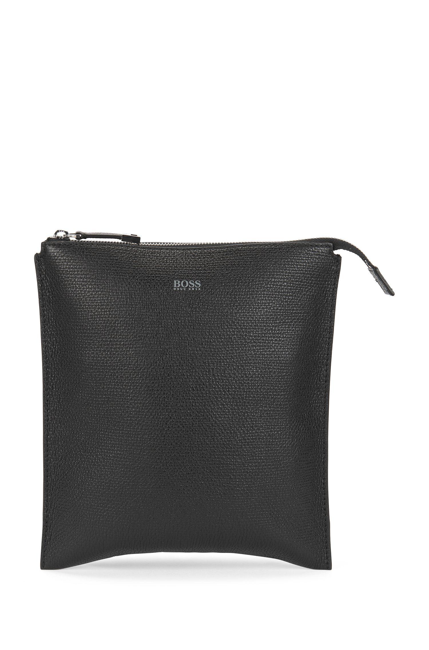 Envelope bag in printed Italian leather