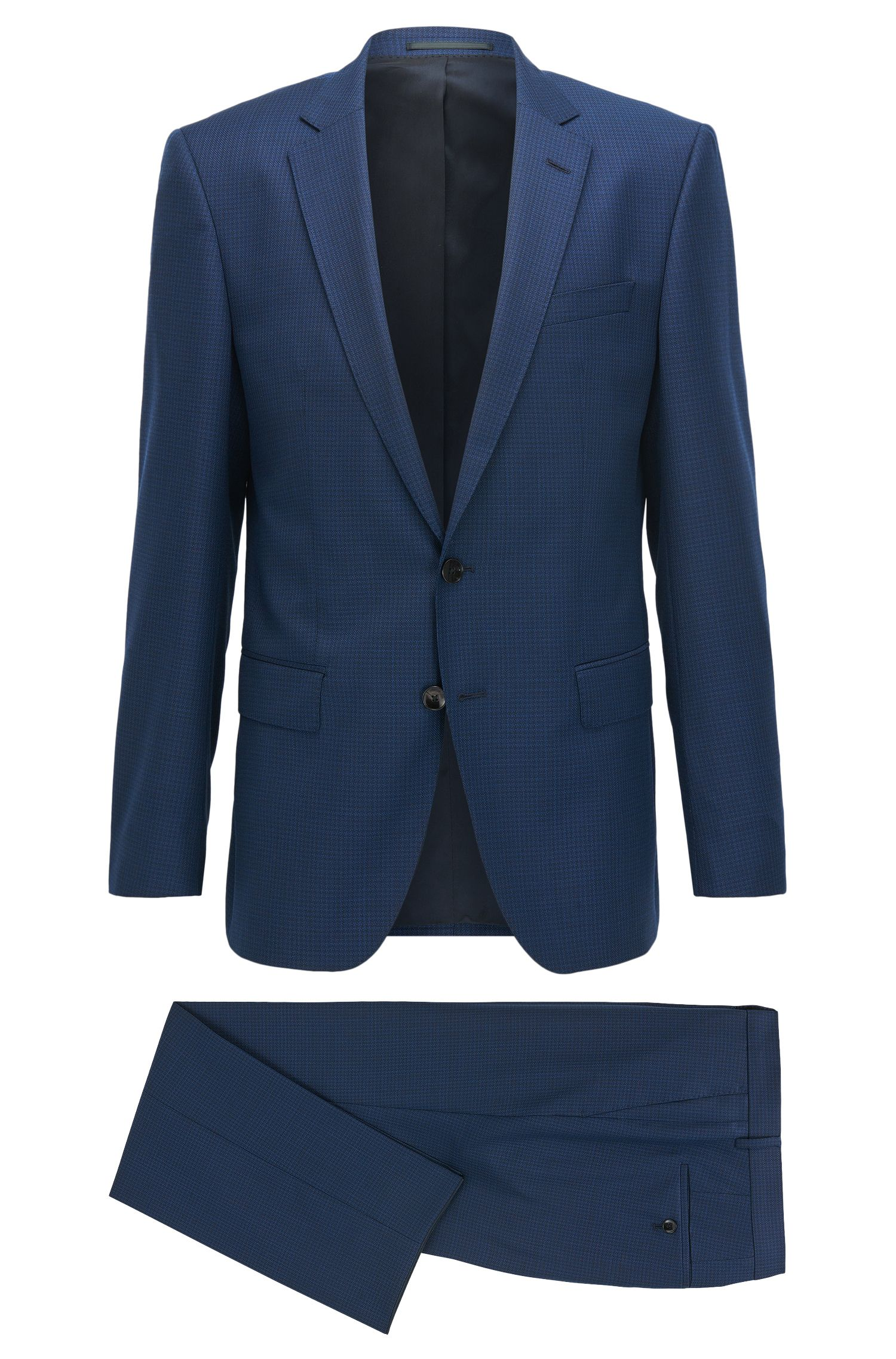 Slim-Fit Anzug aus Schurwolle