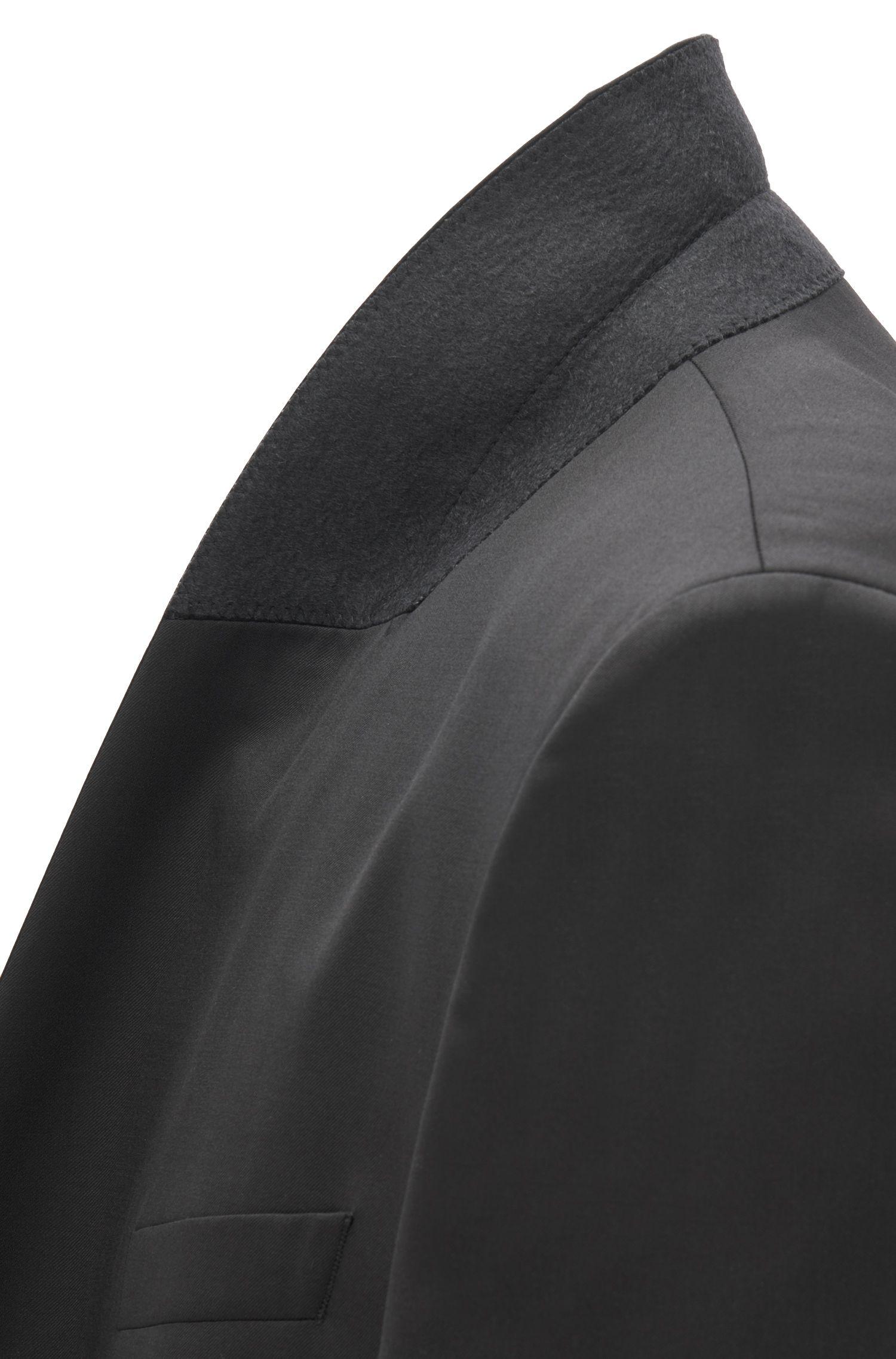 Regular-fit colbert van scheerwol met sjaalkraag