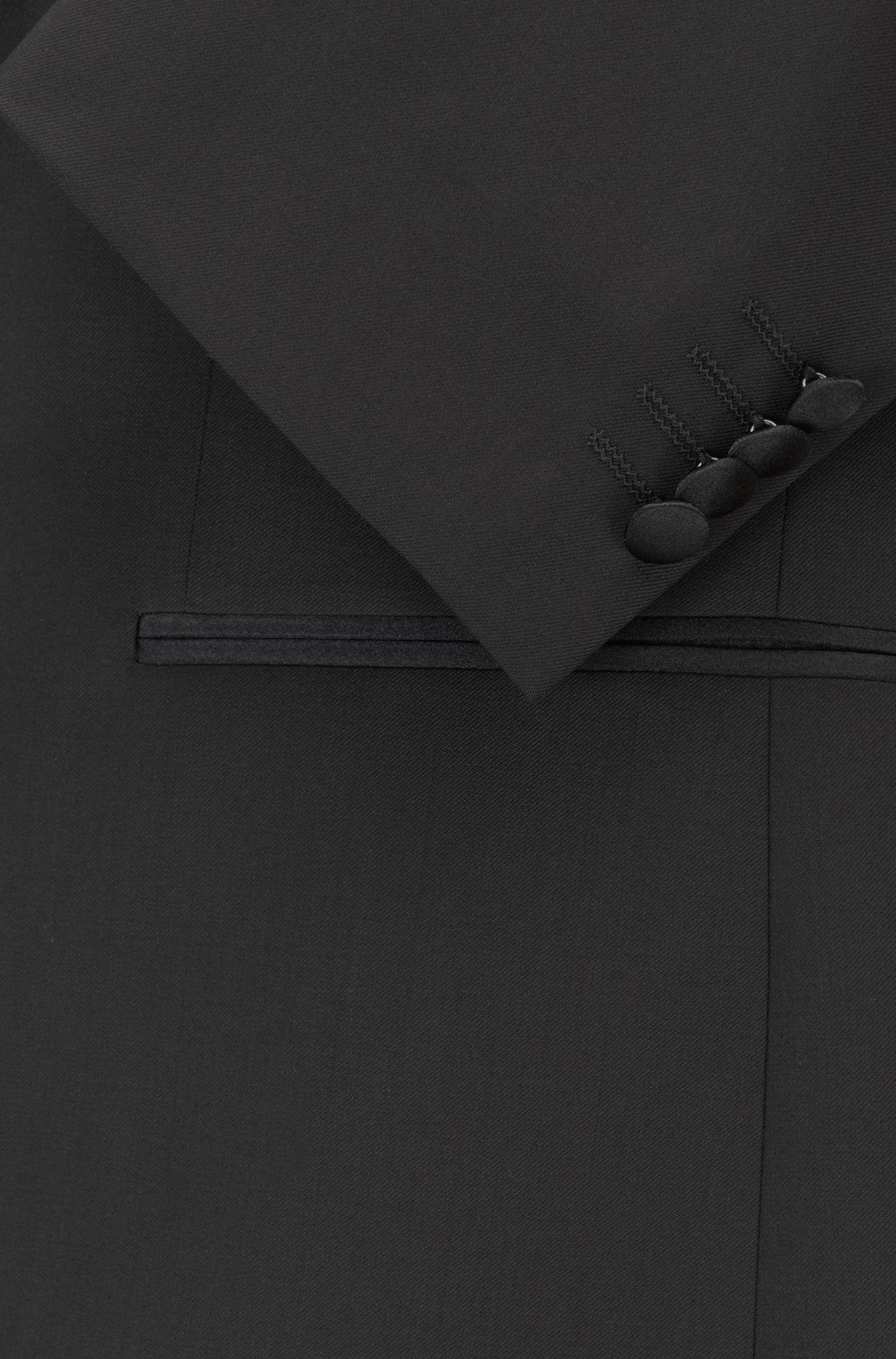 Regular-Fit Sakko aus Schurwolle mit Schalrevers