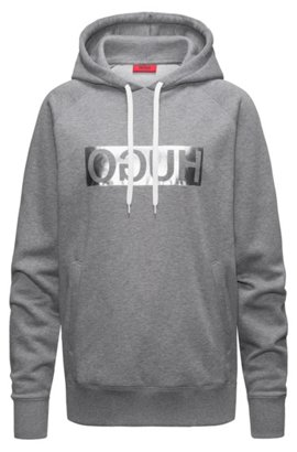 Hooded sweatshirt with metallic reversed logo HUGO BOSS View Outlet Enjoy Best Place To Buy Many Kinds Of For Sale Discount With Credit Card uD99rw9