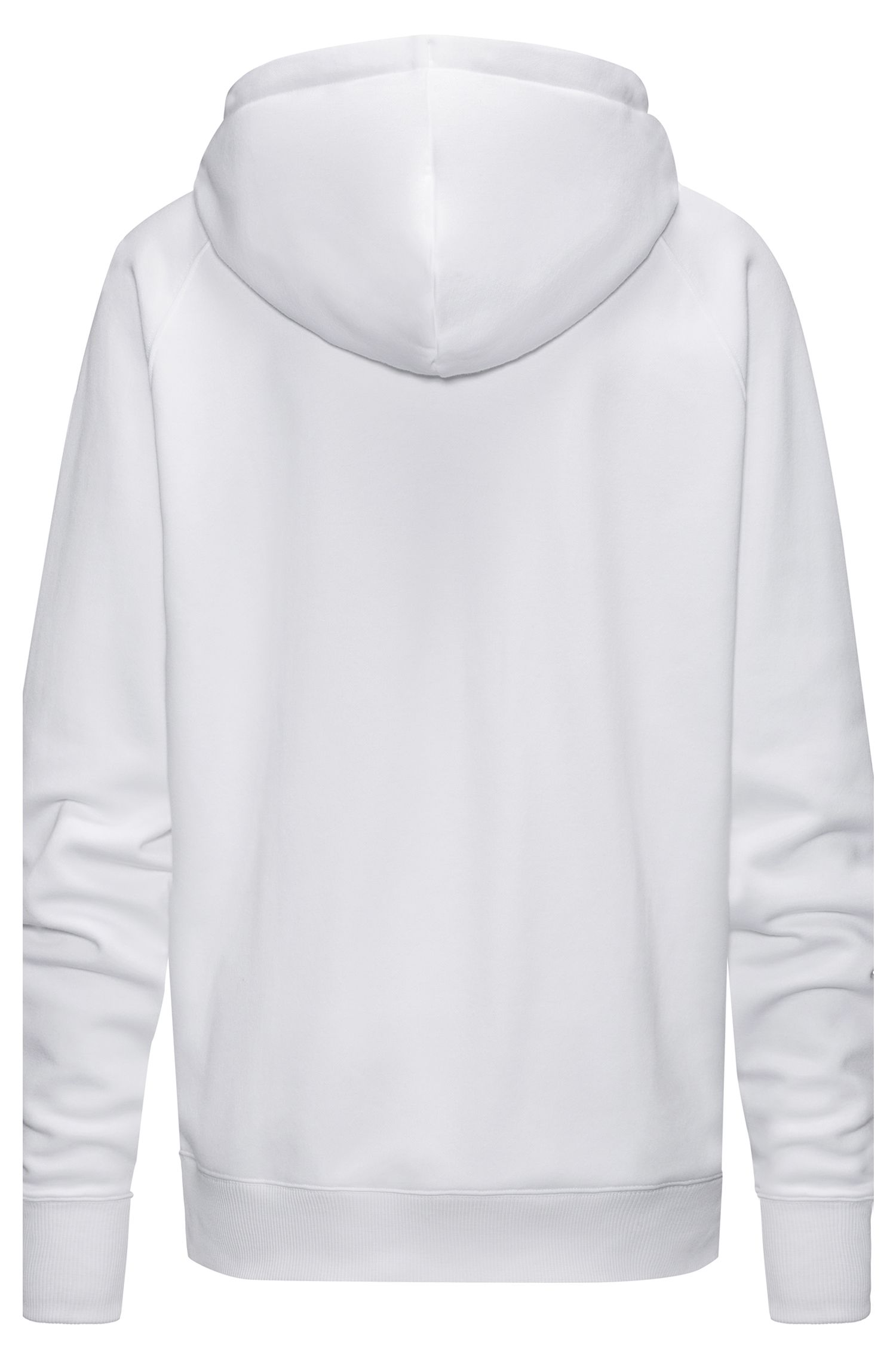 Kapuzen-Sweatshirt aus Baumwoll-Mix mit spiegelverkehrtem Metallic-Logo