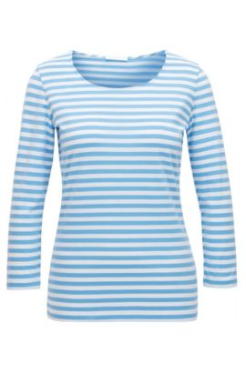 Regular-fit T-shirt in striped single jersey, Patterned