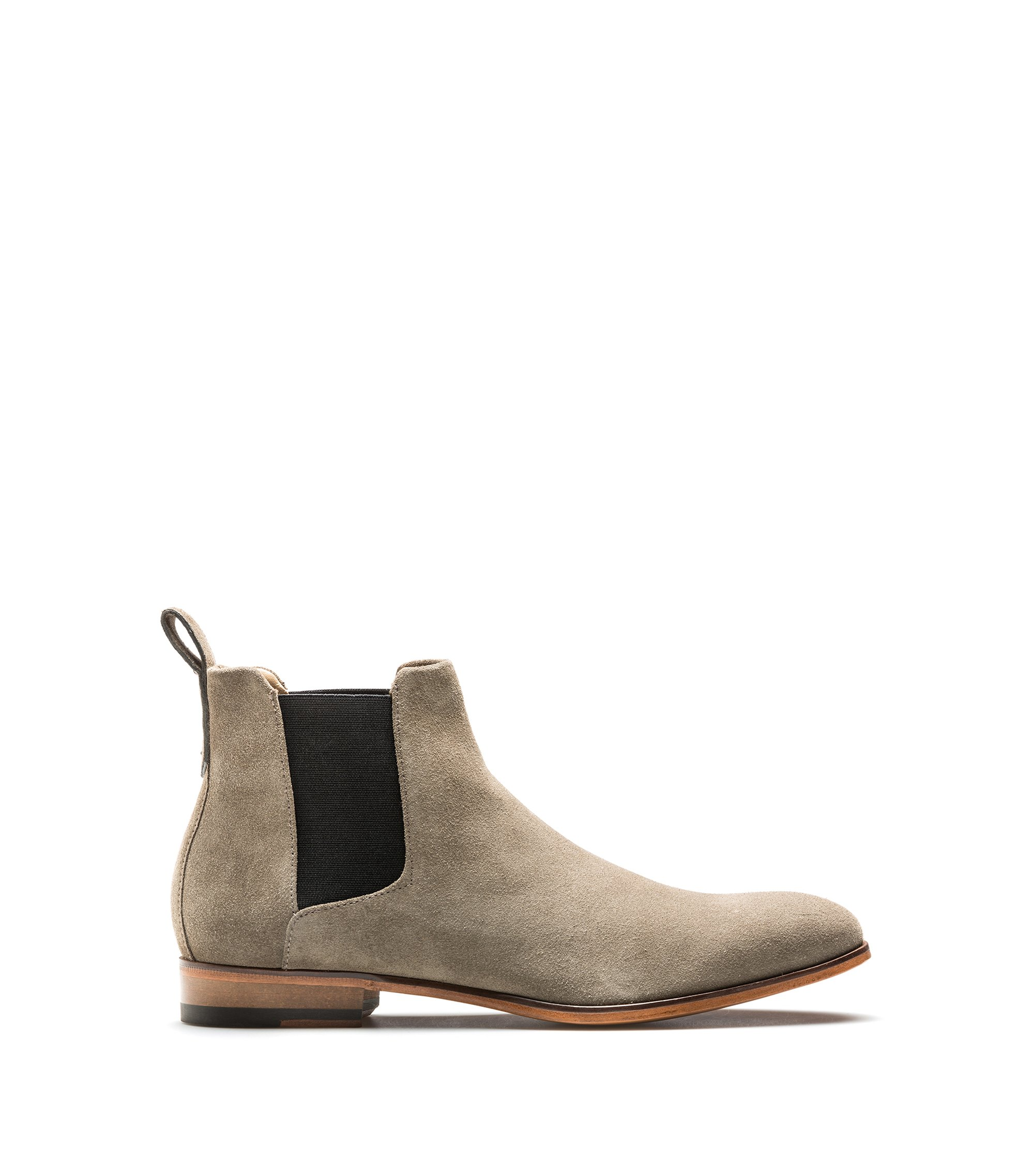 Chelsea boots in soft leather, Khaki