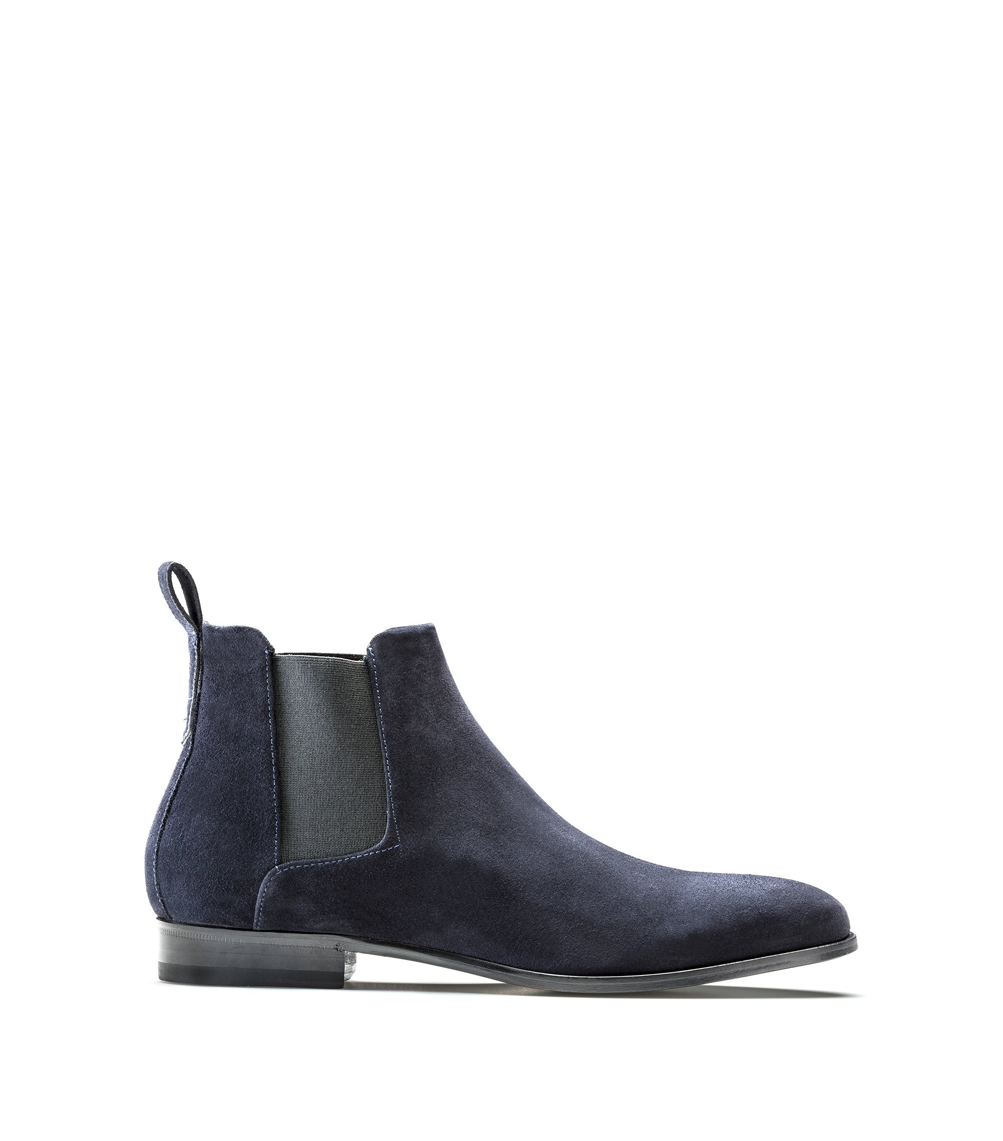 Chelsea boots in soft leather, Dark Blue