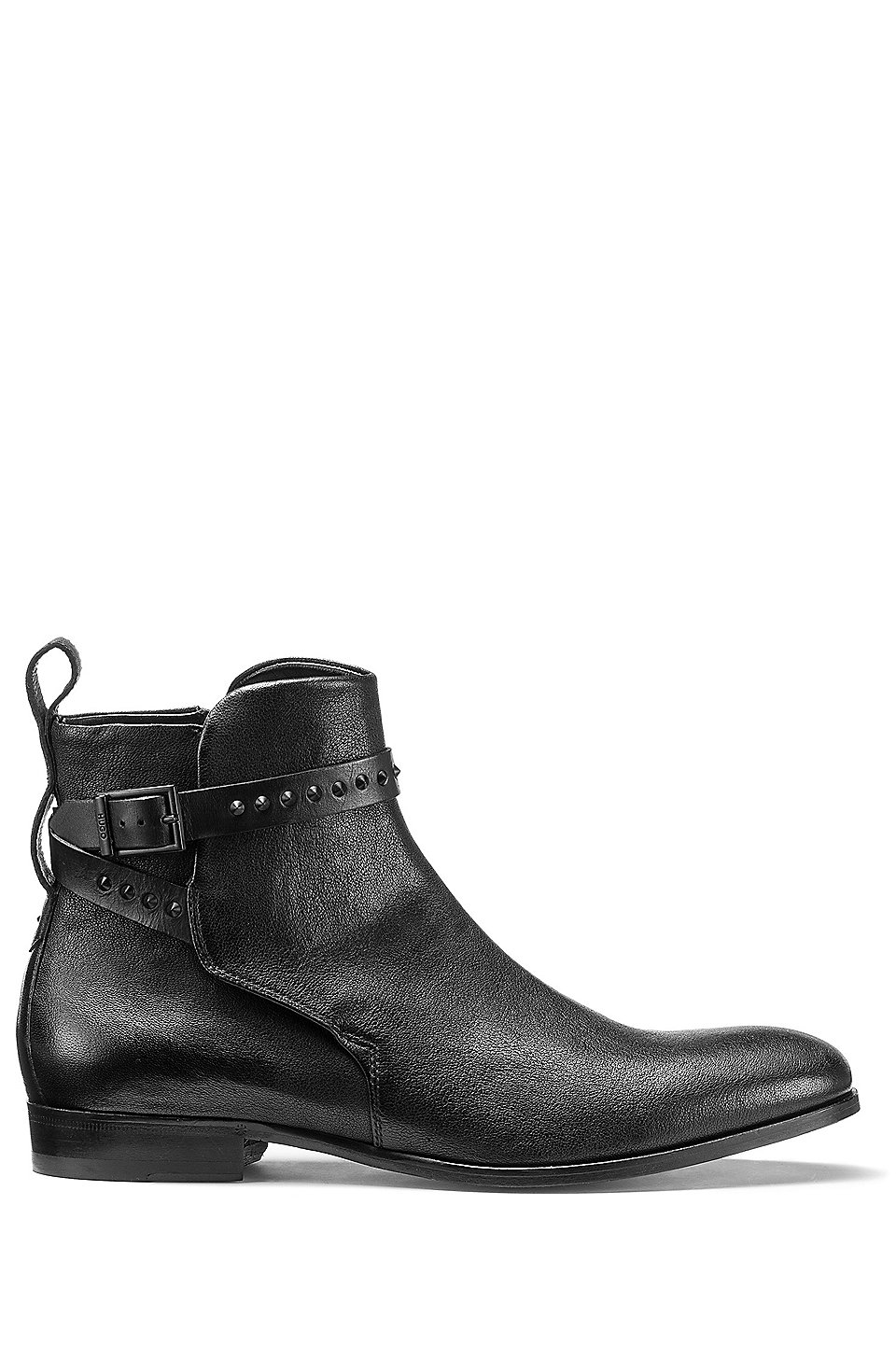 Jodhpur Style Chelsea Boots In Tumbled Leather Black
