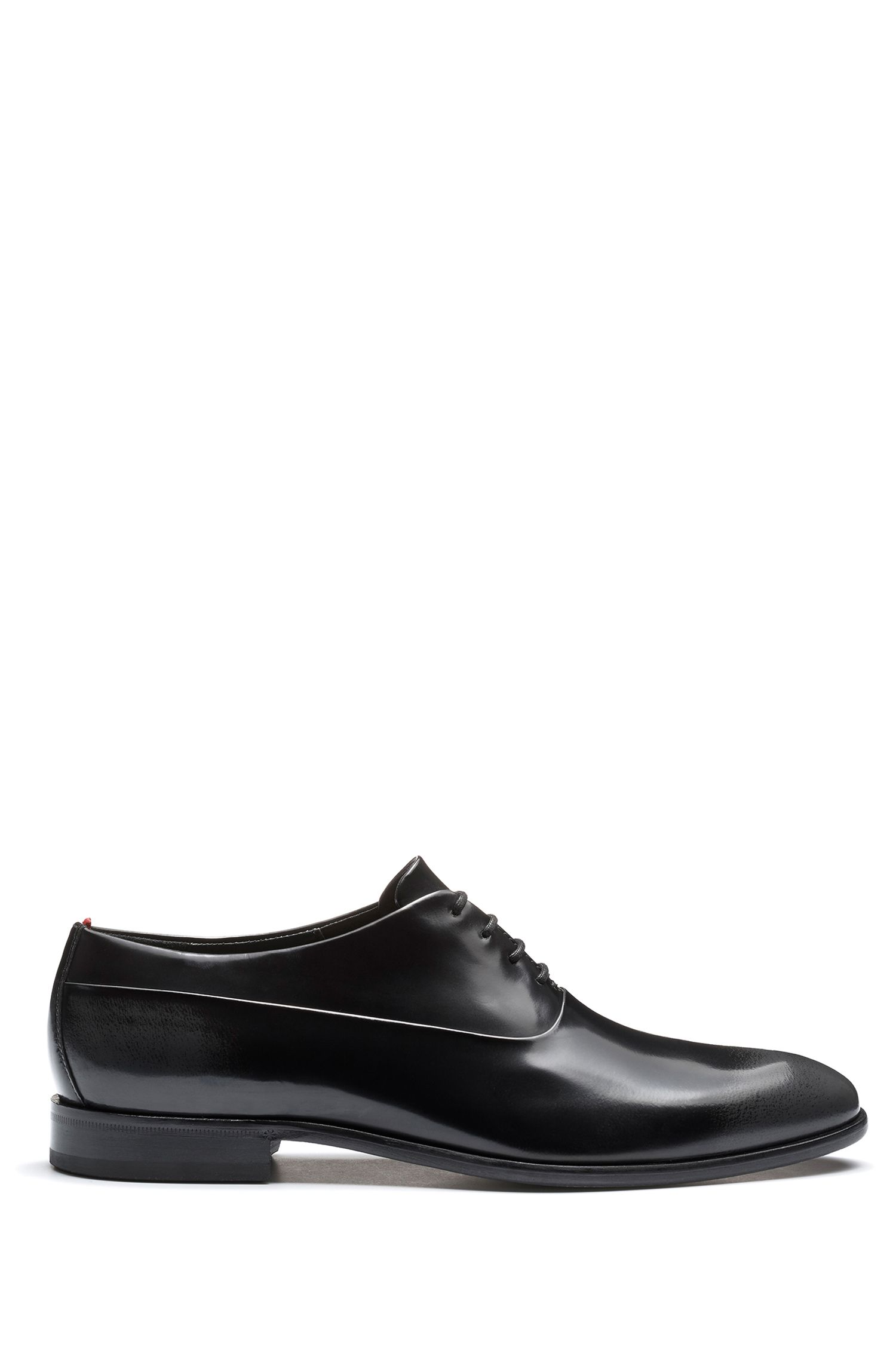 Two-tone Oxford shoes in brush-off leather