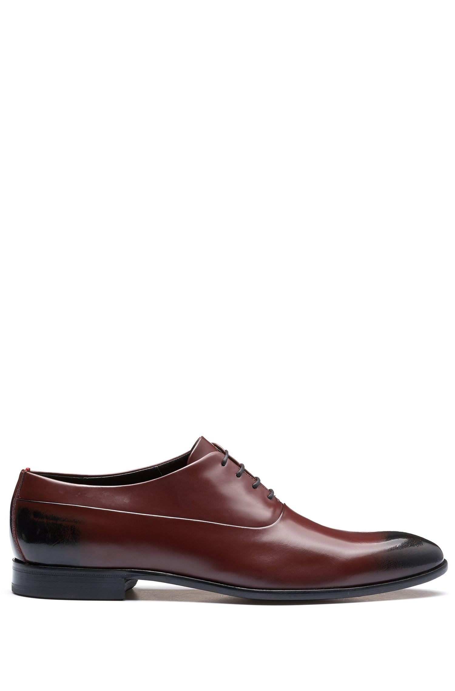 Chaussures Oxford en cuir brossé deux tons