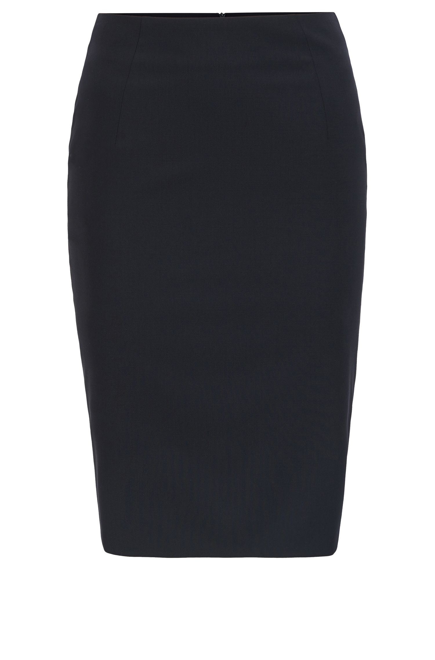 Pencil skirt in stretch virgin wool