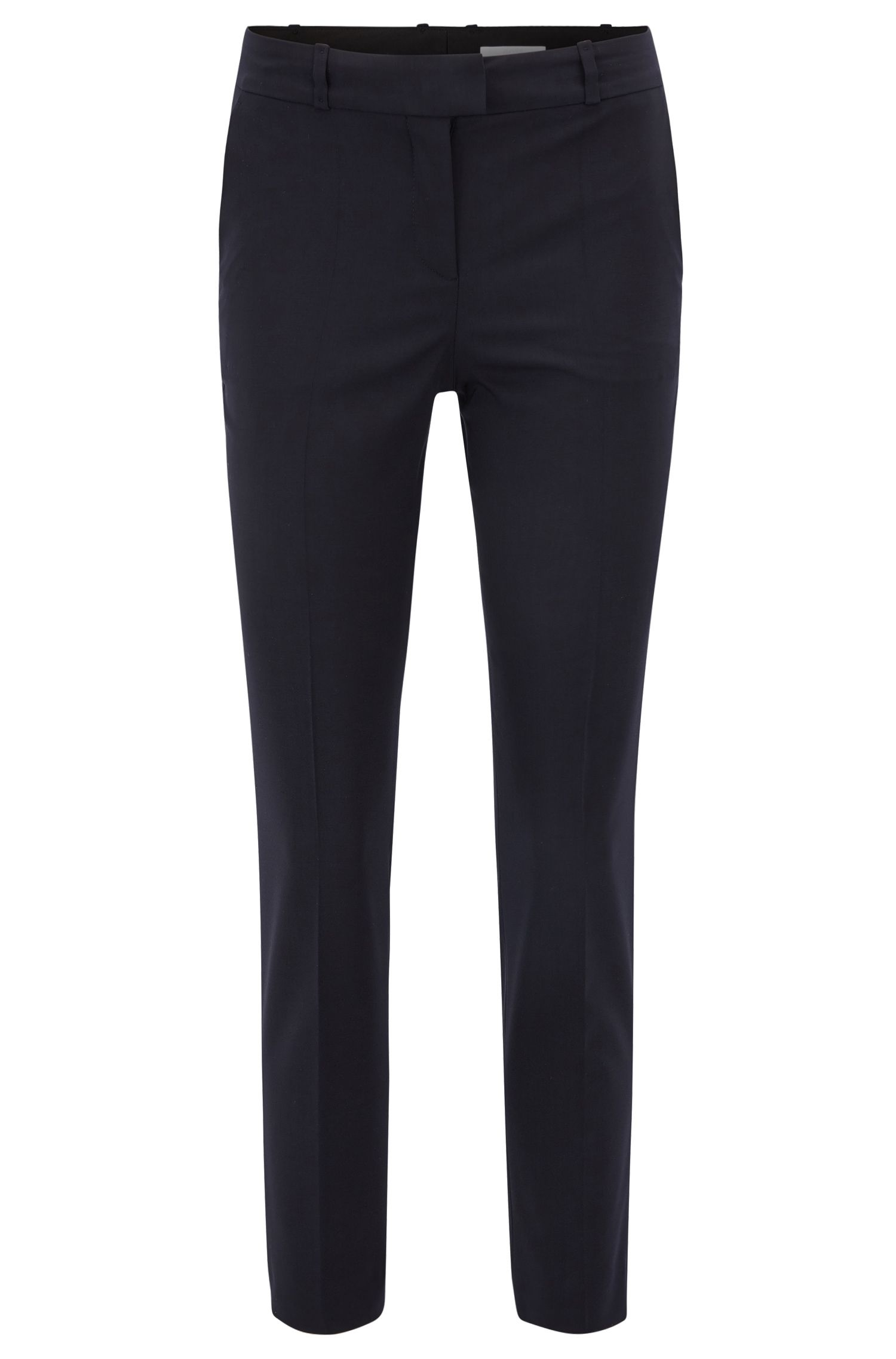 Pantaloni relaxed fit in lana vergine elasticizzata