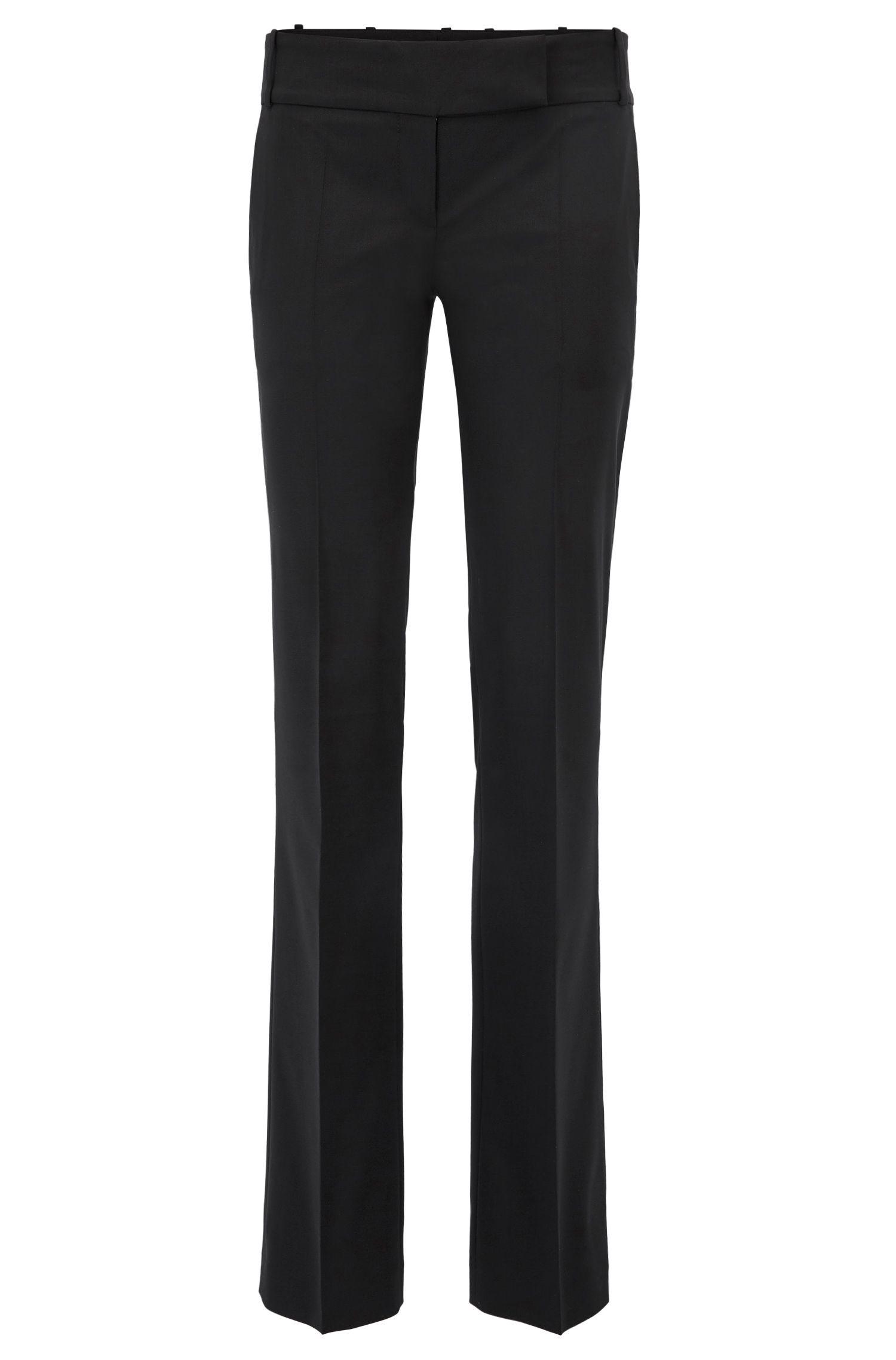Zakelijke broek van scheerwol met stretch