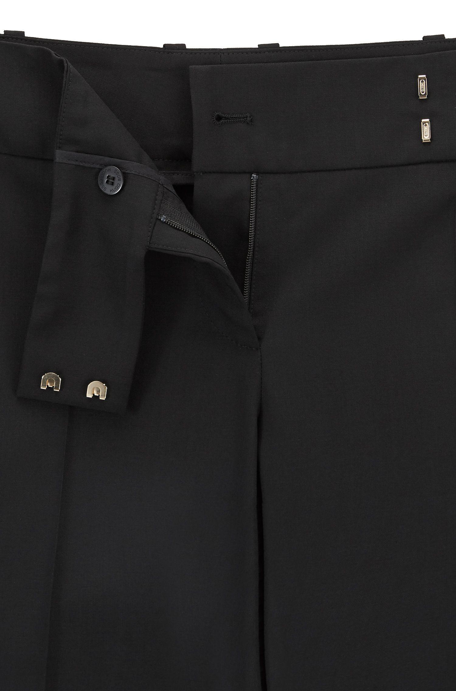 Pantalones formales en lana virgen elástica