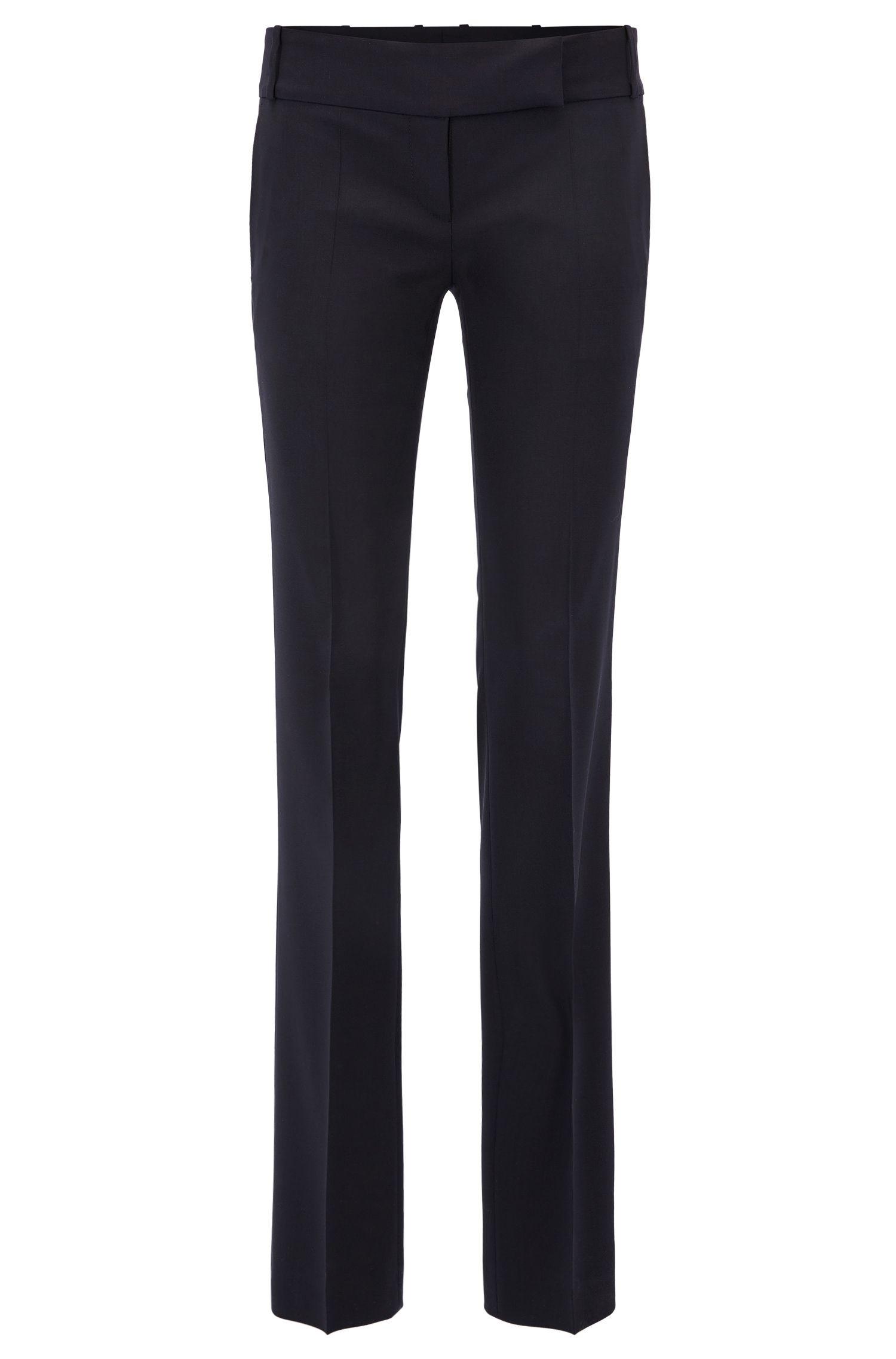 Regular-Fit Hose aus elastischer Schurwolle