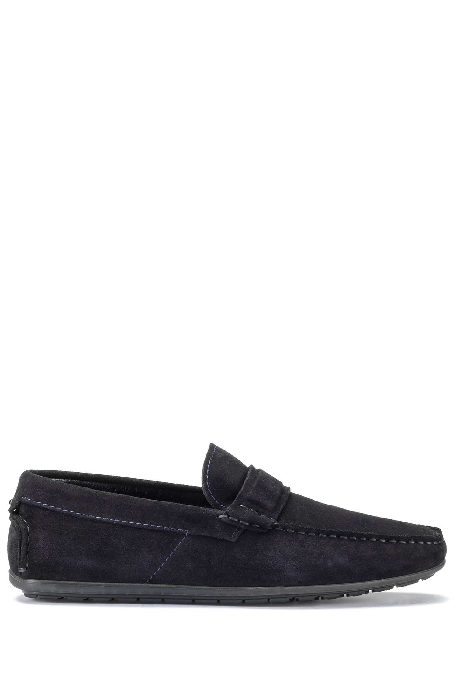 Mocassini slip-on in pelle scamosciata