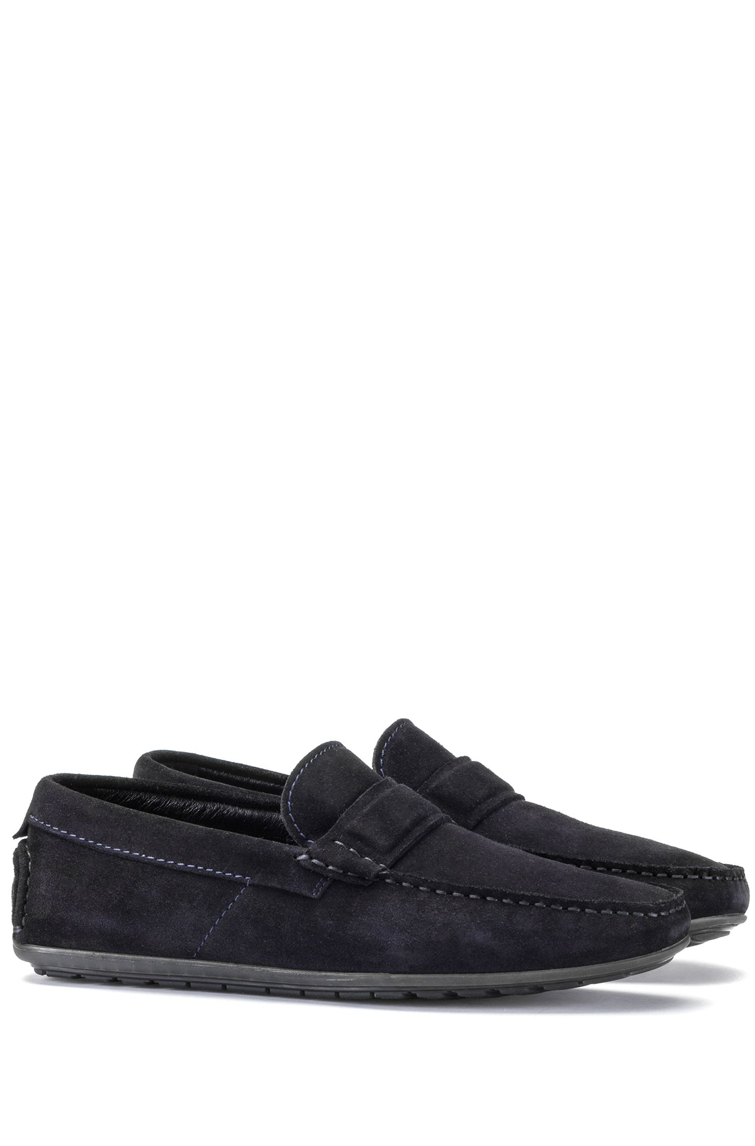 Slip-on moccasins in suede leather