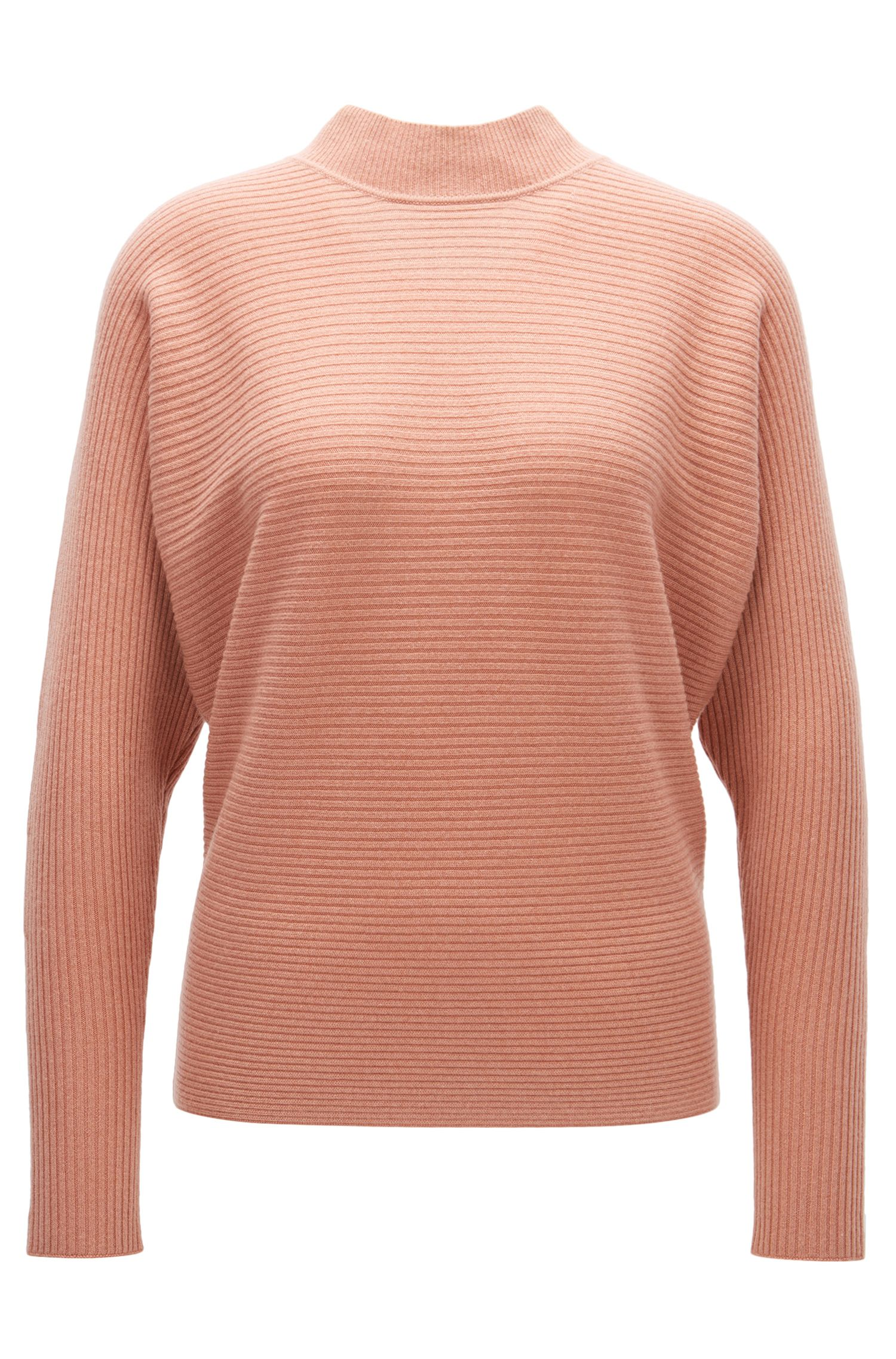 Maglione a coste relaxed fit in puro cashmere