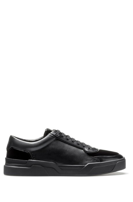 Baskets basses lacées en cuir nappa et velours195.00HUGO BOSS gVkCE6bY0