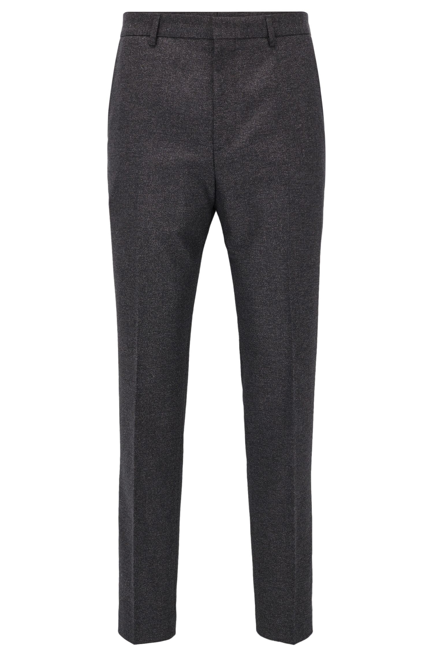 Slim-fit trousers in a mélange cotton blend
