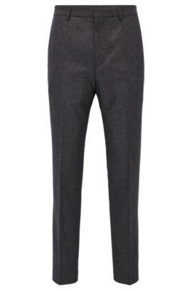 Pantalones slim fit en mezcla de algodón jaspeado, Gris marengo