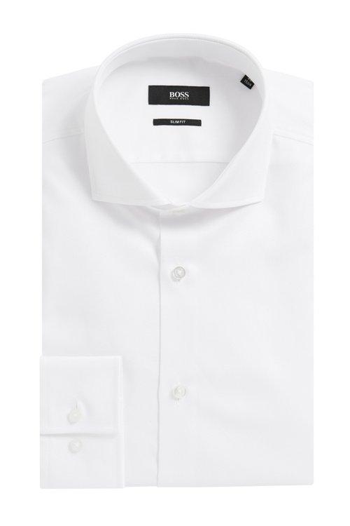 Hugo Boss - Slim-Fit Hemd aus fein strukturierter Baumwolle - 4