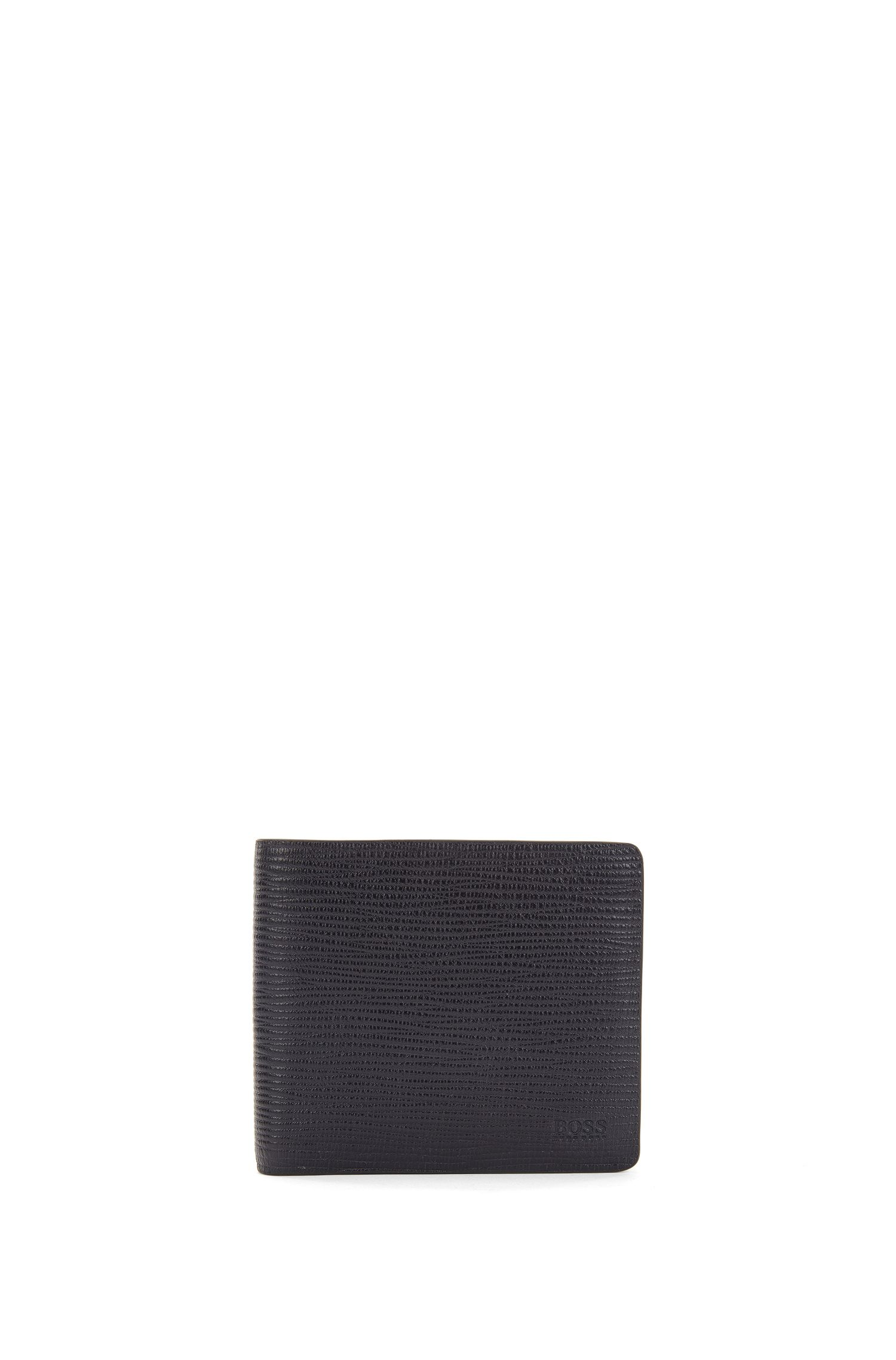 Billfold wallet in soft printed leather