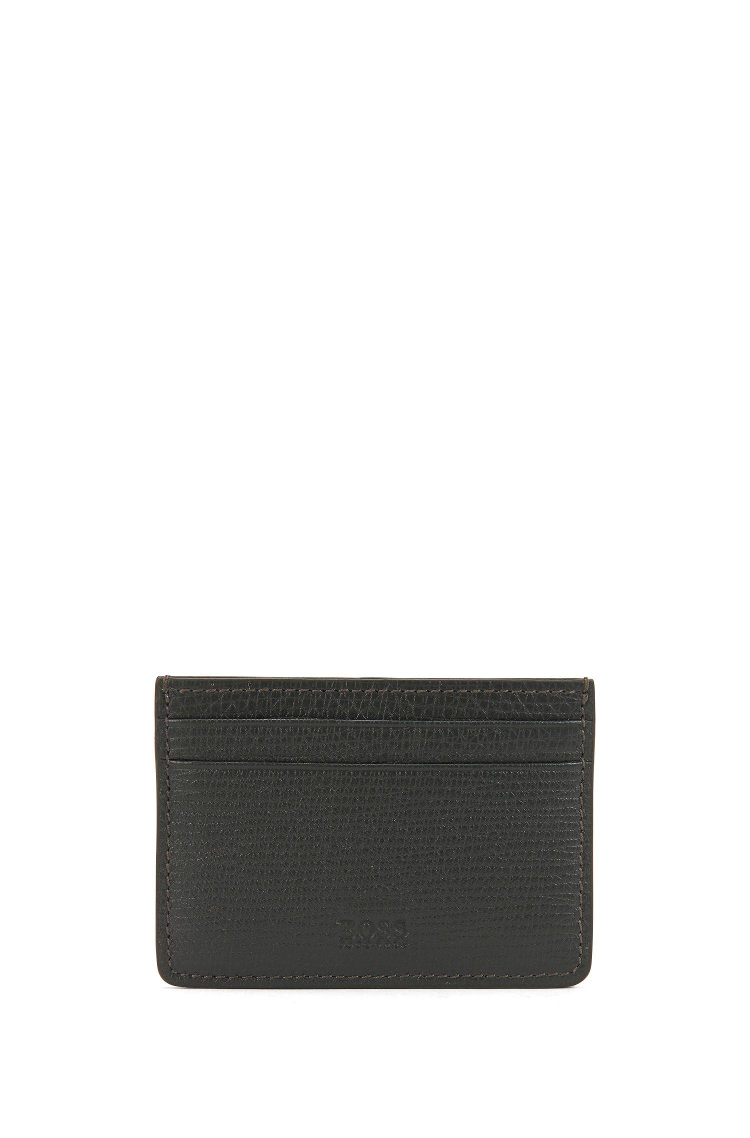 Porte-cartes en cuir imprimé