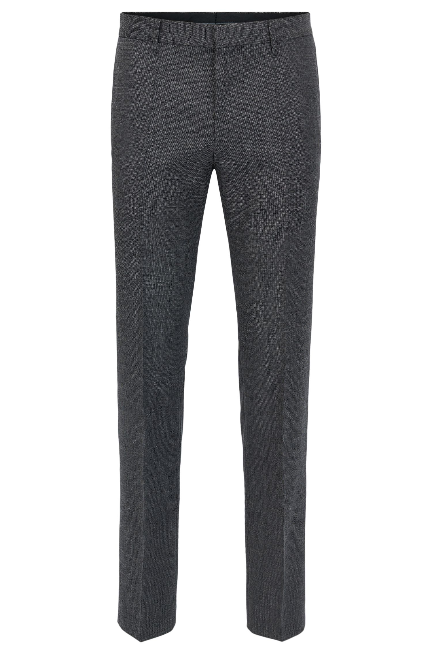 Slim-fit trousers in Tesse virgin wool serge with natural stretch