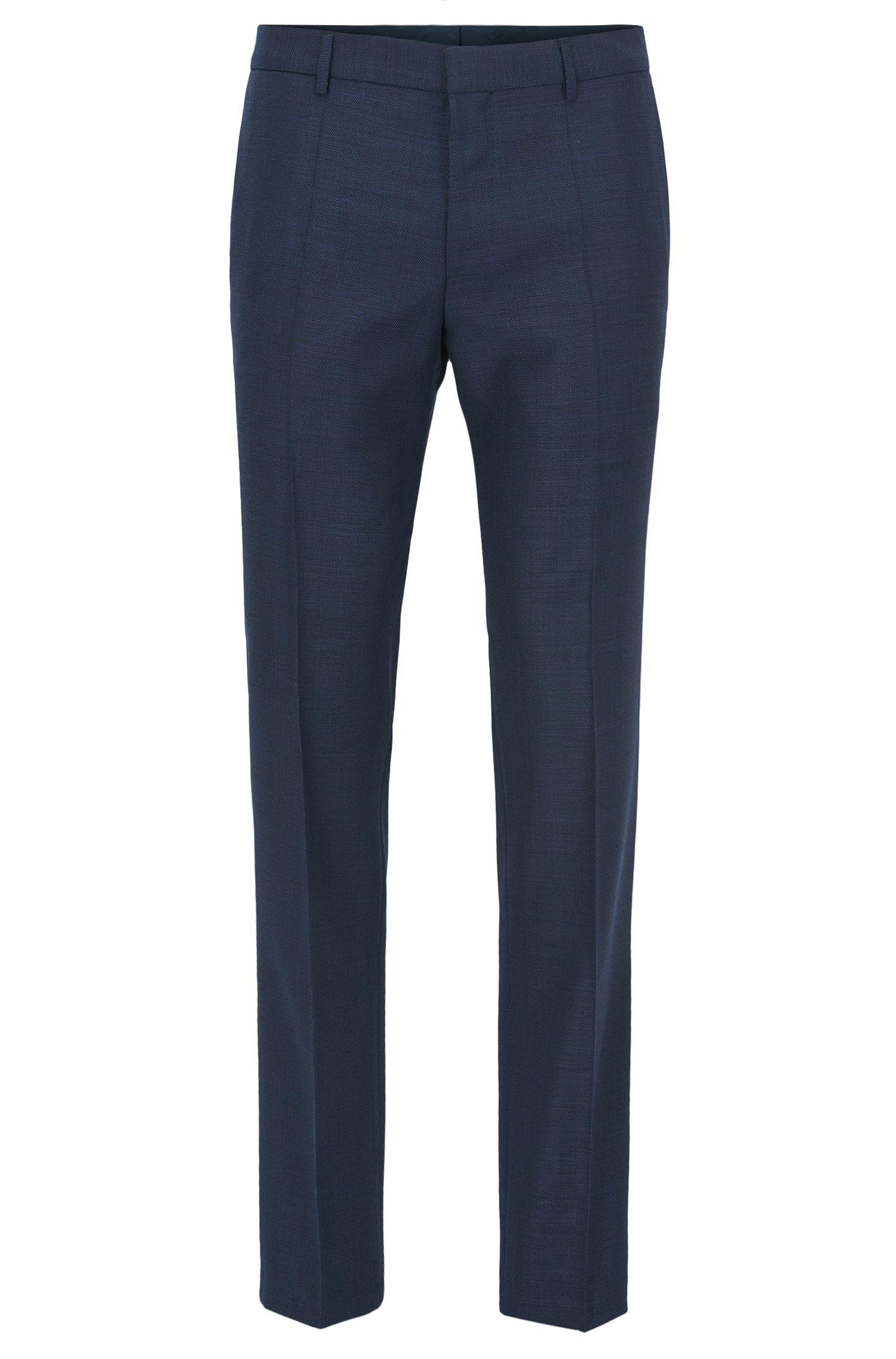 Slim-Fit Hose aus natürlich elastischer Tesse-Schurwolle