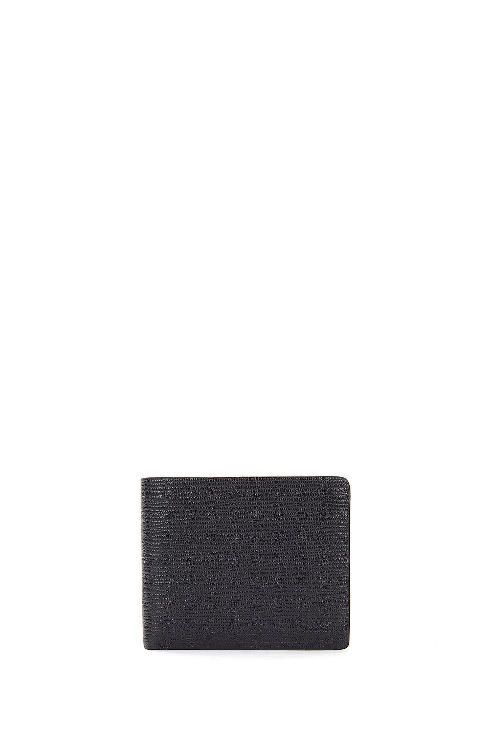 HUGO BOSS Portefeuille à trois volets en cuir imprimé avec huit fentes pour cartes OJN4fV2J