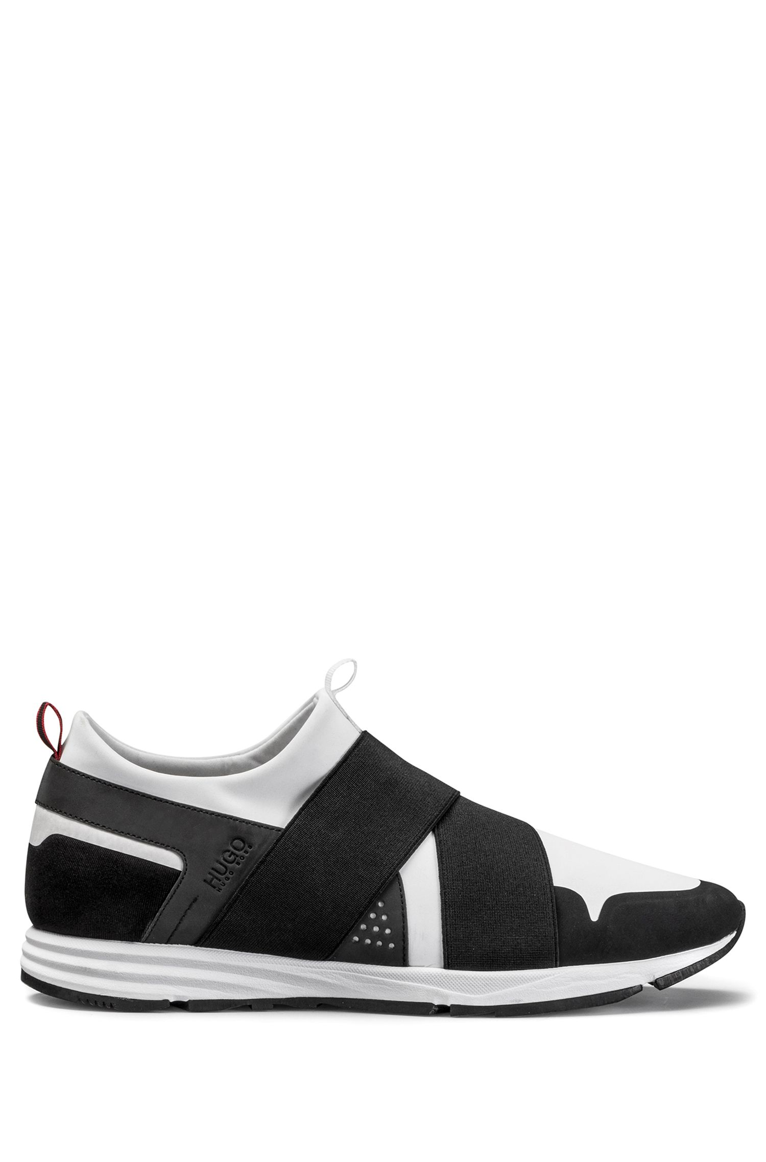 Bandage-top trainers in technical fabric