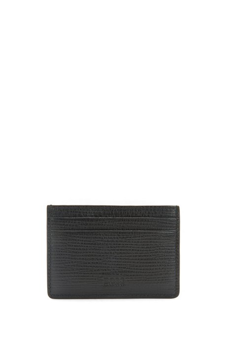 HUGO BOSS Porte-cartes en cuir avec pince à billets YPqZZQs