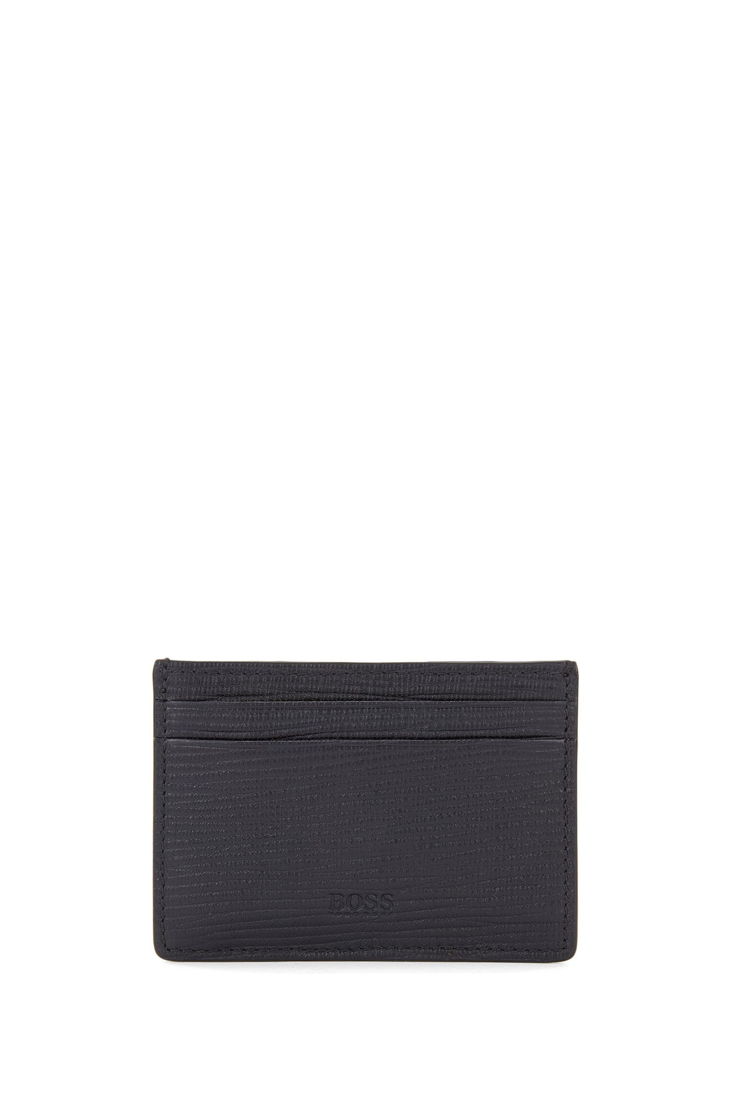 Leather card holder with money clip