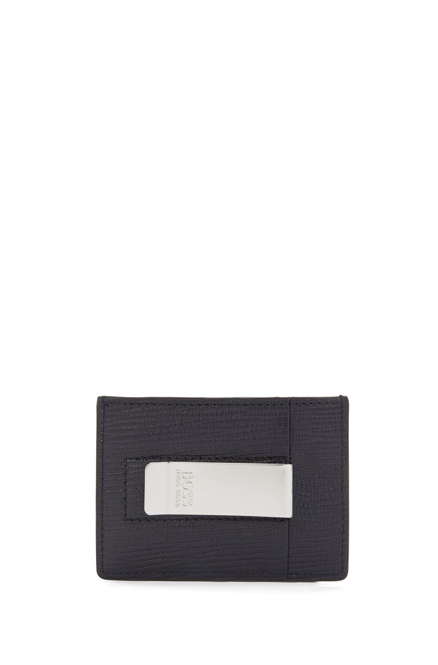 Kartenetui aus Leder mit Geldscheinklammer