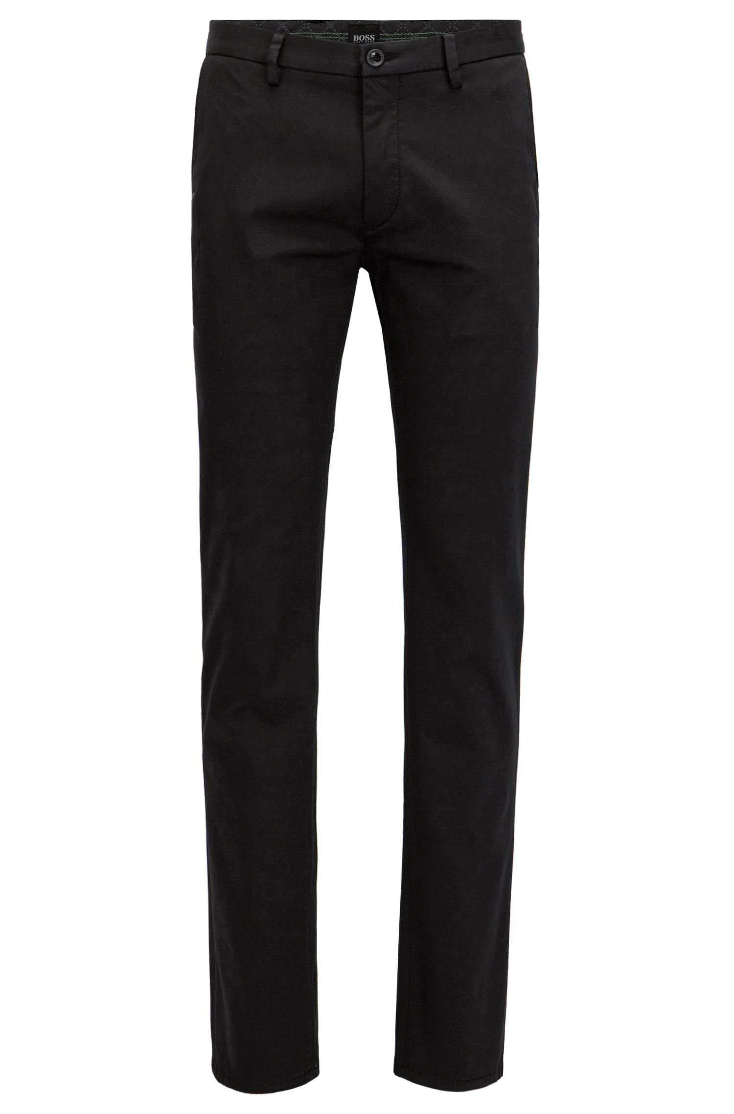 Slim-Fit Chino aus Stretch-Satin