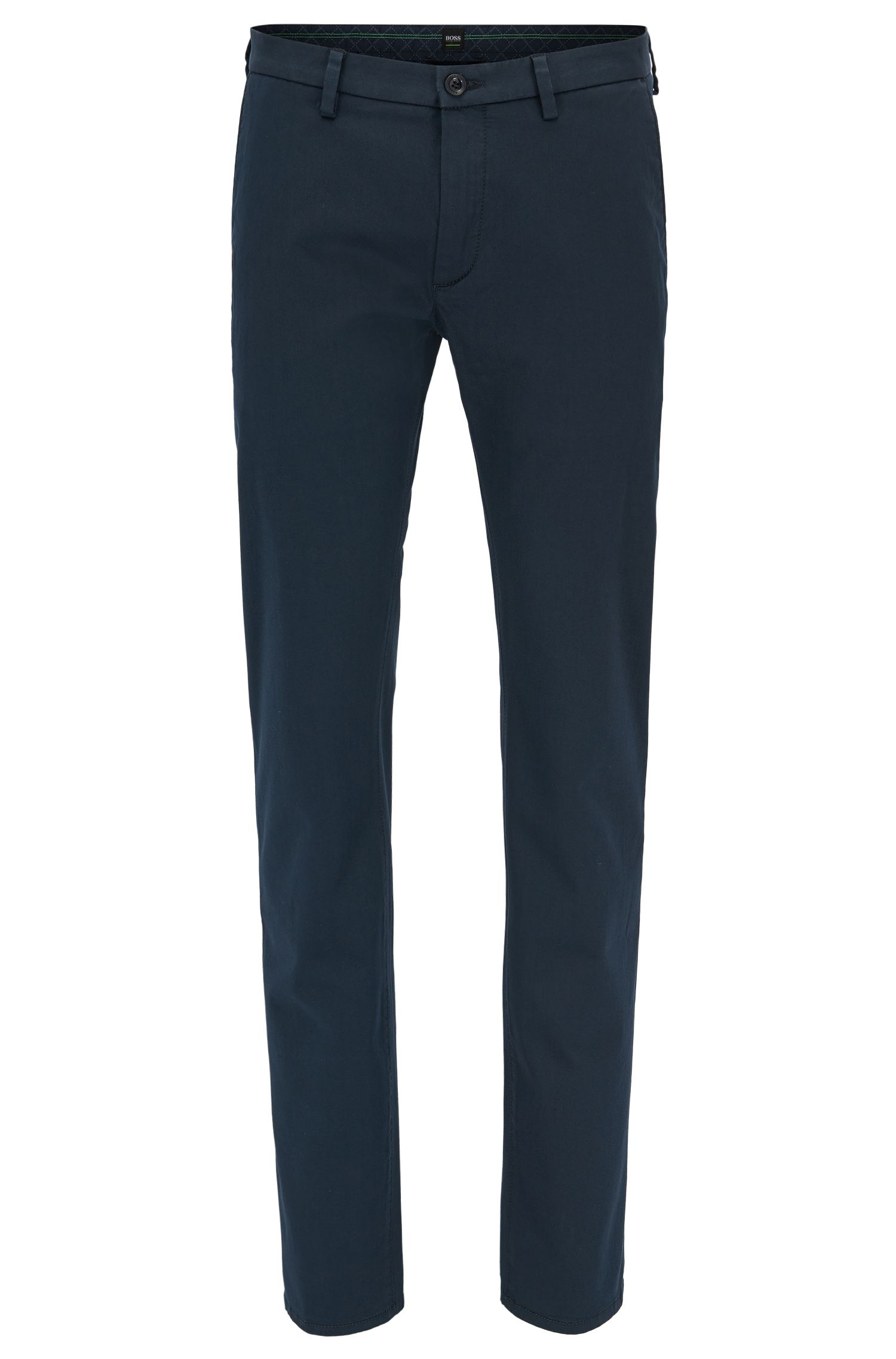 Slim-fit chinos in stretch satin