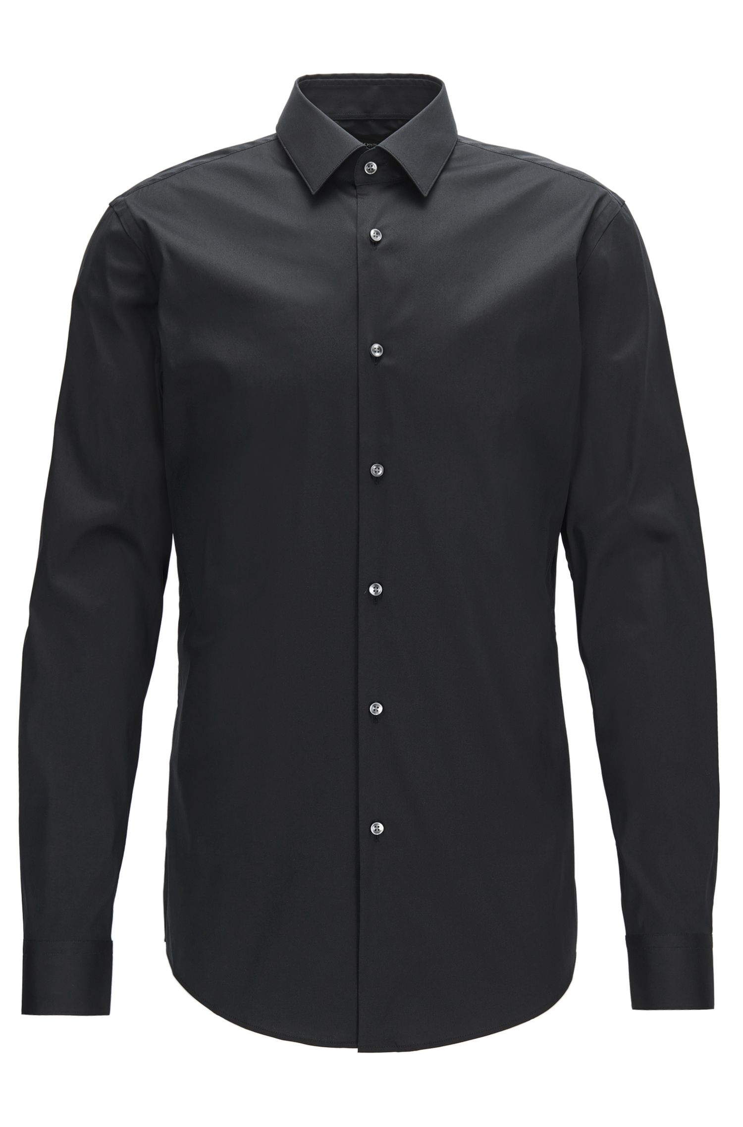 Extra-slim-fit shirt in stretch cotton-blend poplin