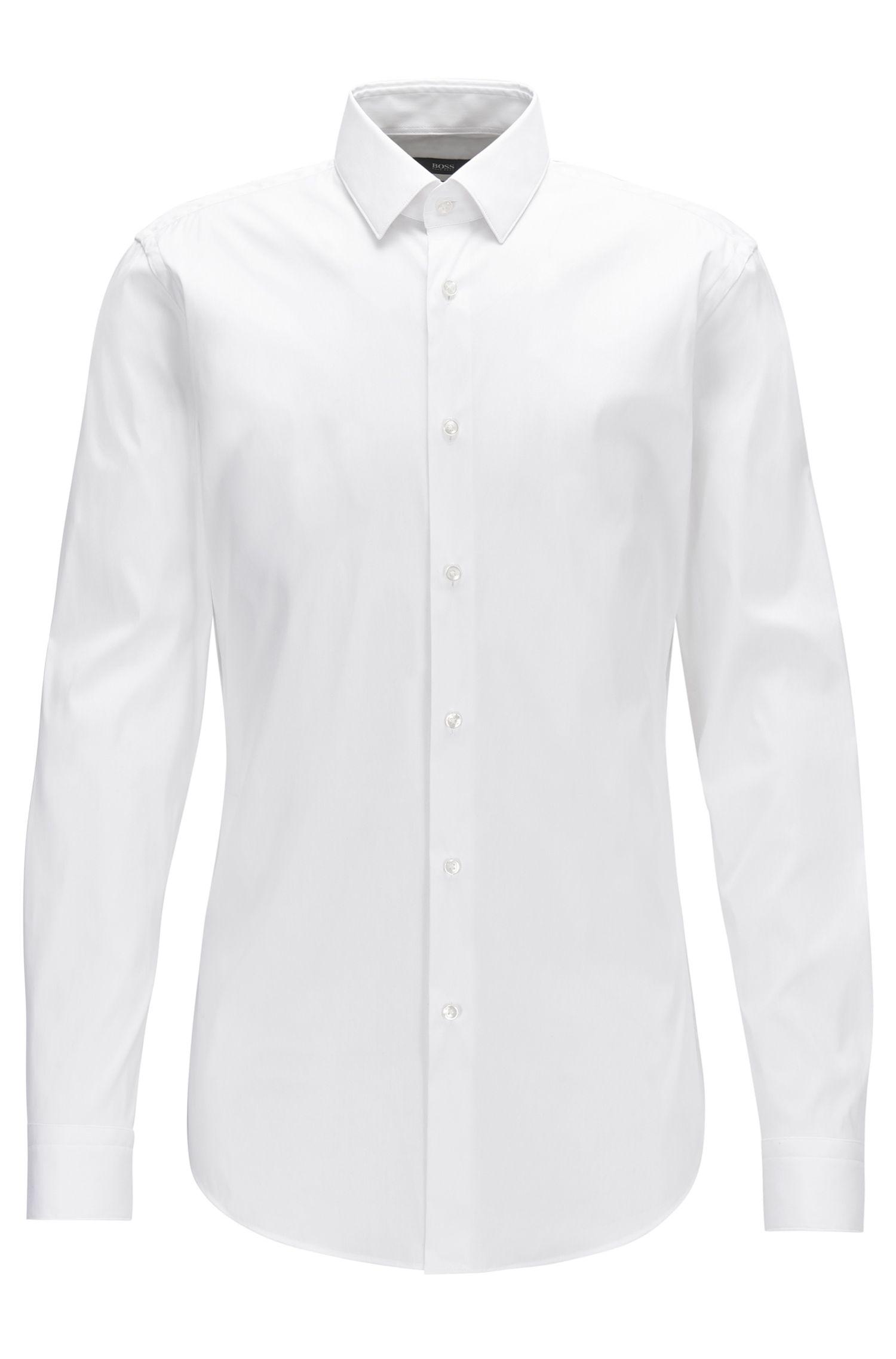 Extra Slim-Fit Hemd aus elastischem Baumwoll-Mix