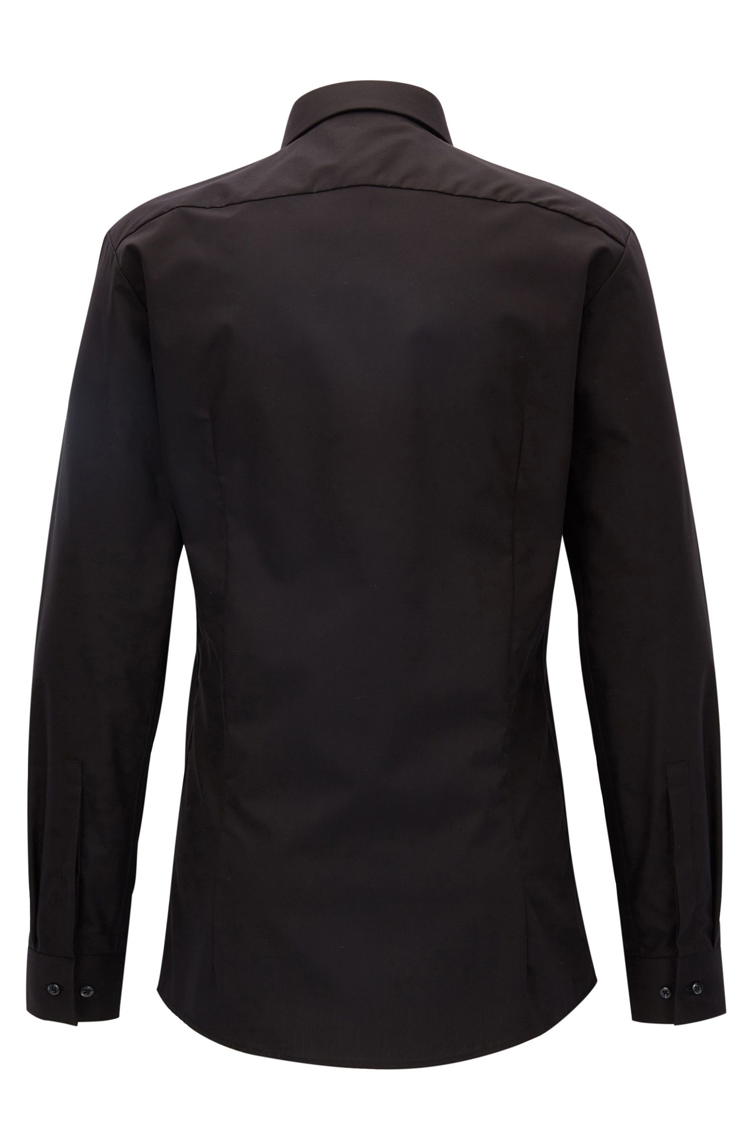 Chemise de soirée Extra Slim Fit en coton, avec panneau à motif sur le devant