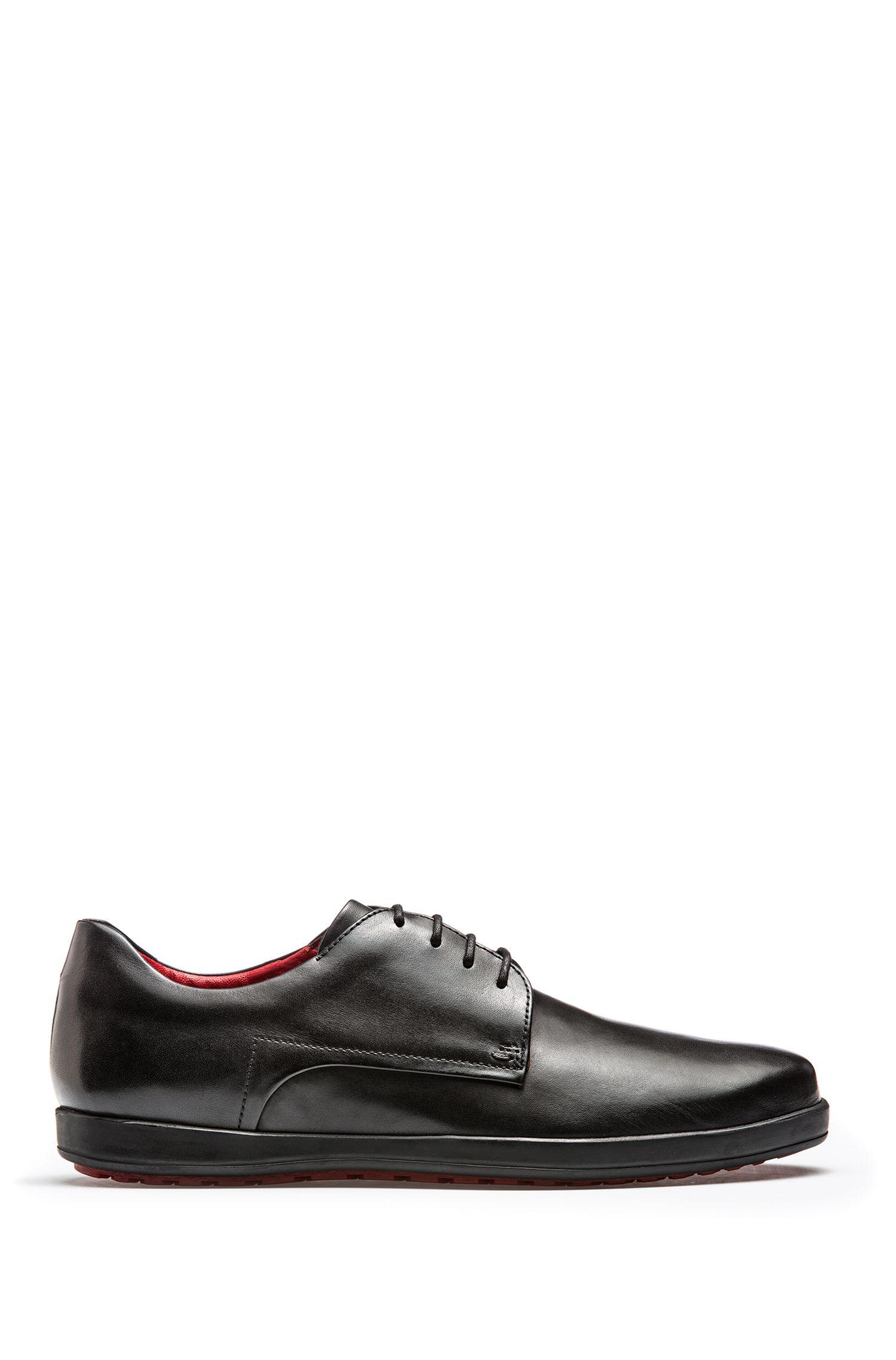 Zapatos Derby en piel de becerro con suela de goma
