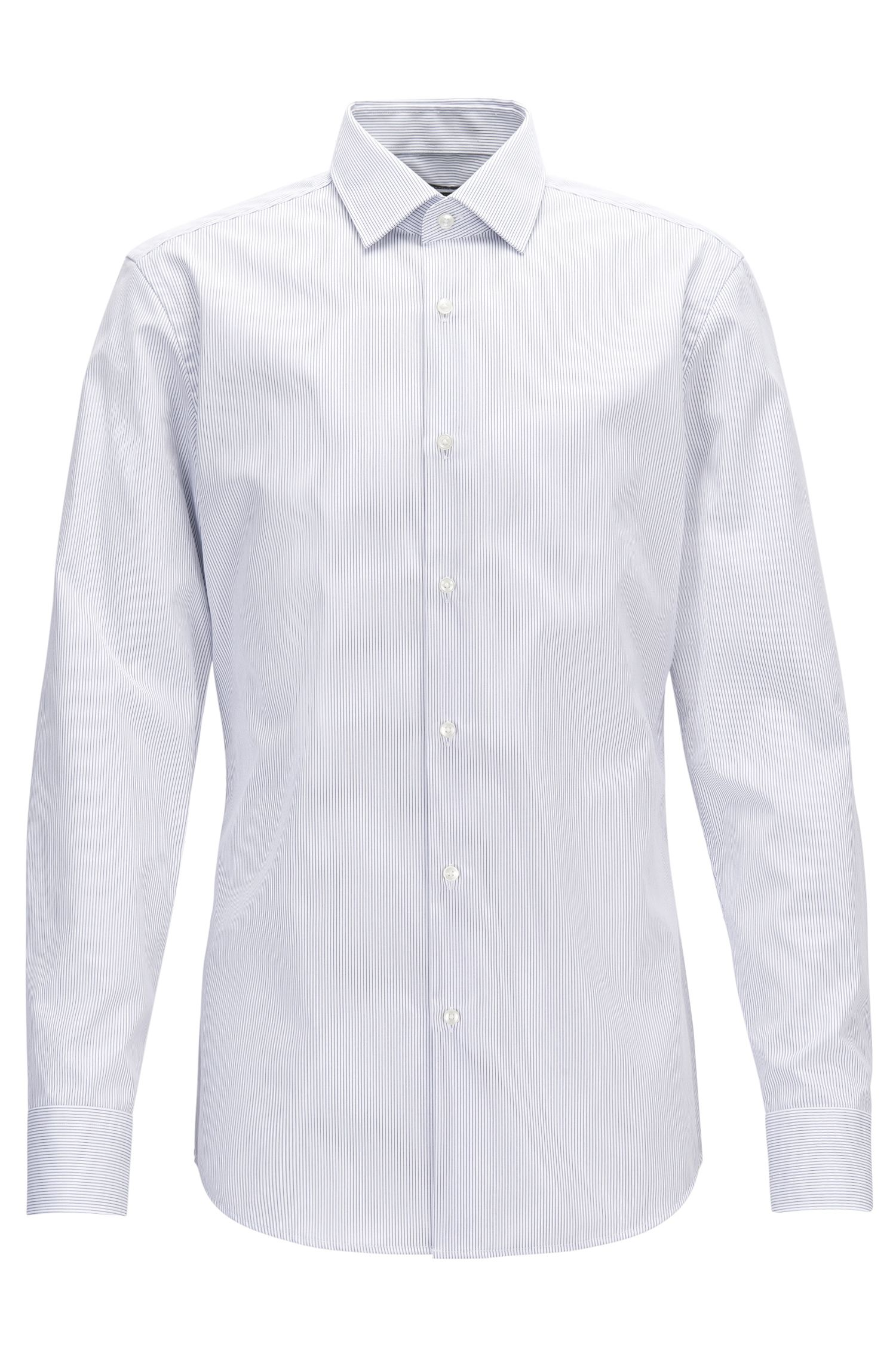Gestreiftes Slim-Fit Hemd aus Baumwolle