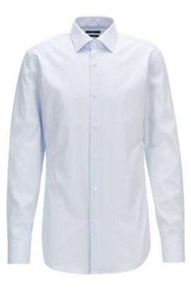 Chemise Slim Fit en coton à rayures, Bleu vif
