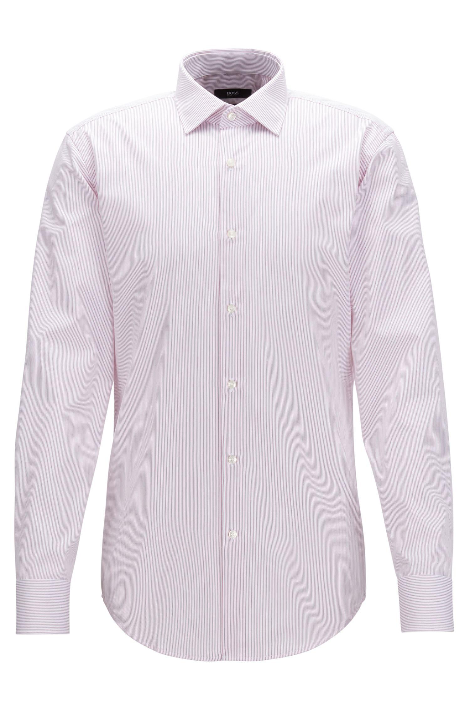 Slim-fit overhemd van gestreepte katoen
