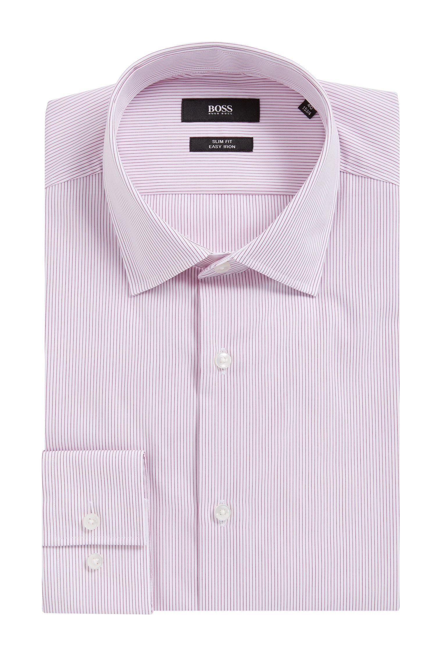 Camicia slim fit in cotone a righe