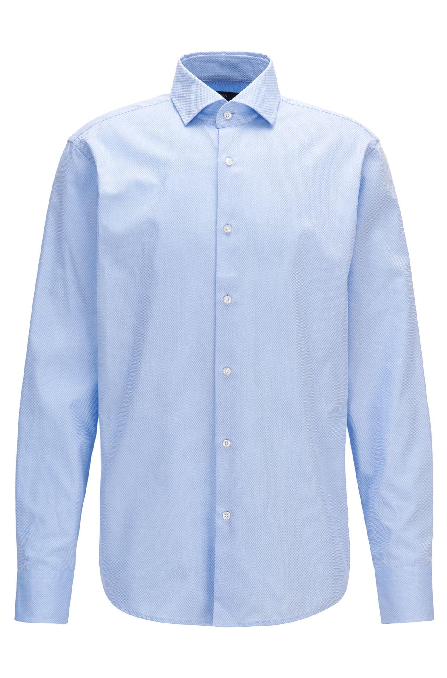 Camisa regular fit en algodón de fantasía
